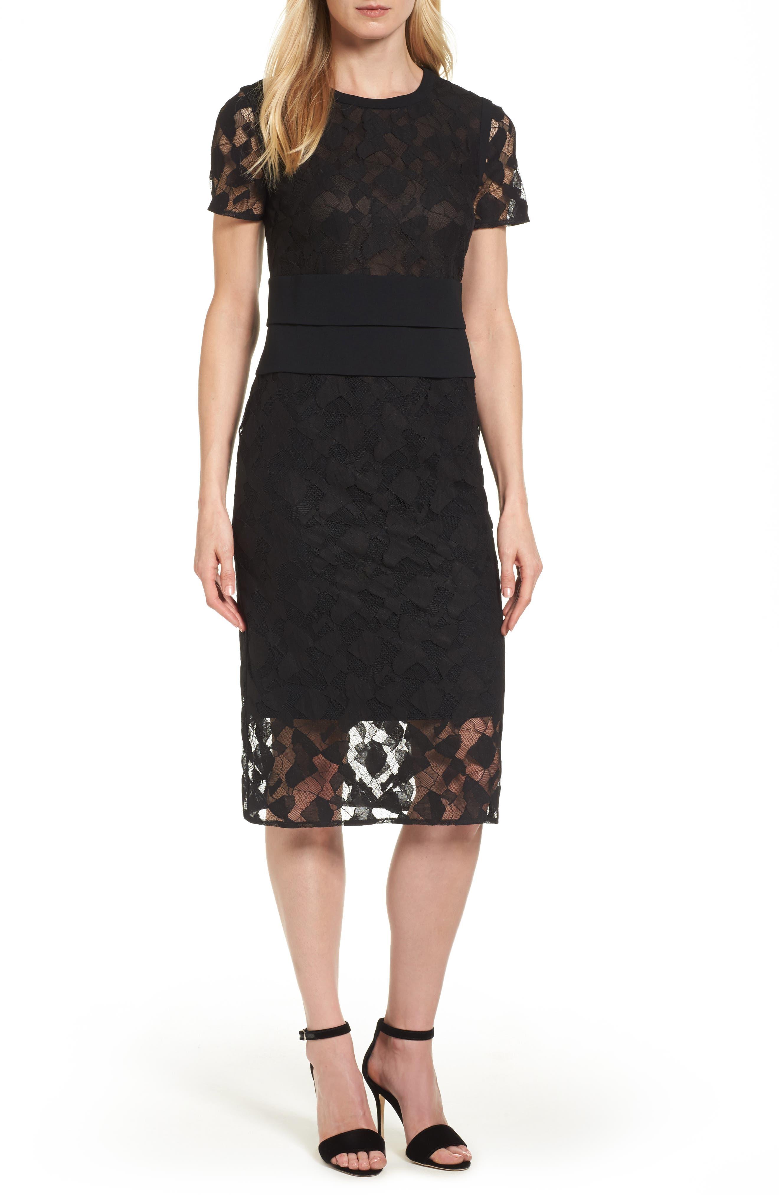 BOSS Denela Lace Sheath Dress