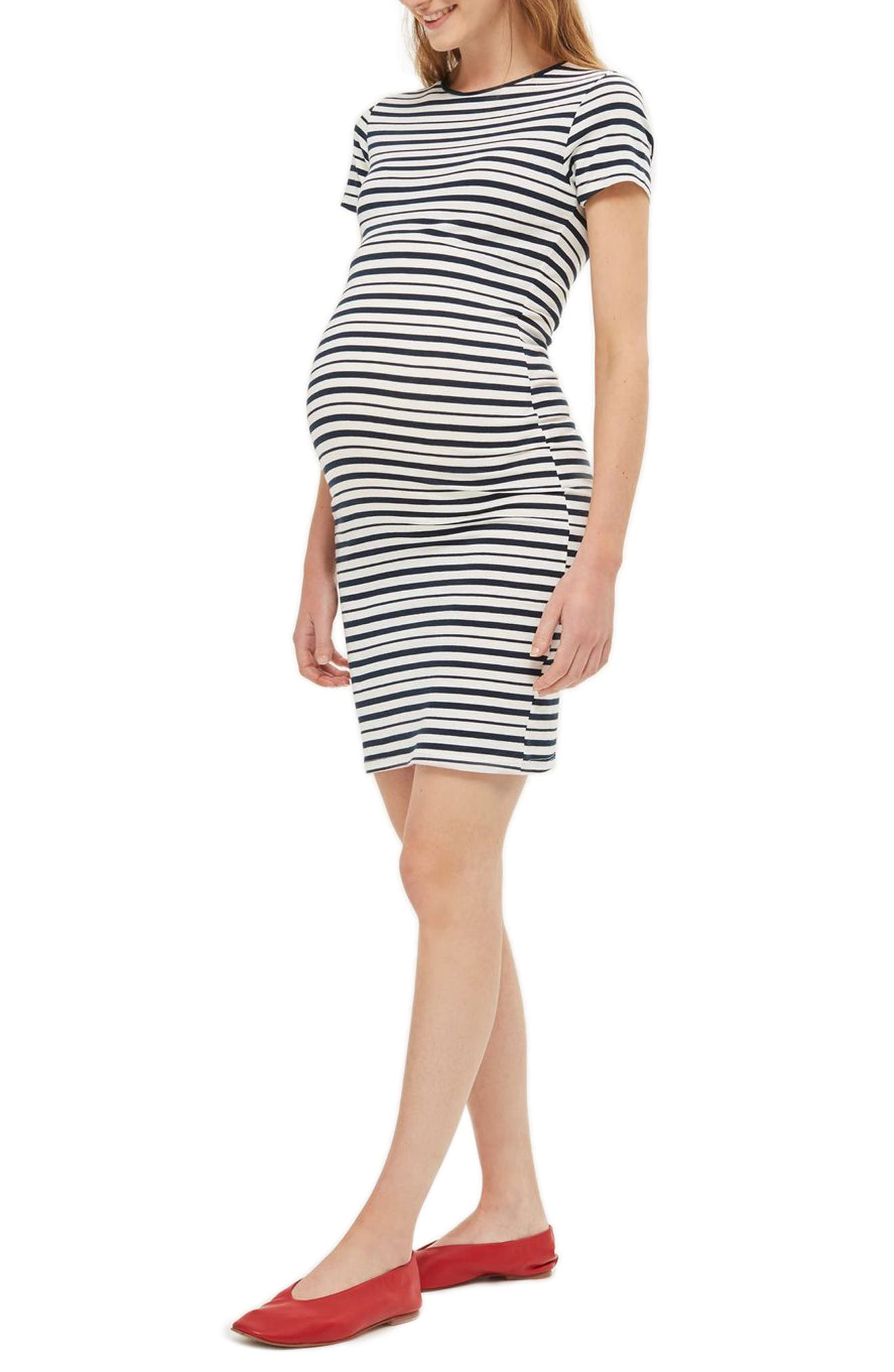 Topshop Stripe Maternity Body-Con Dress