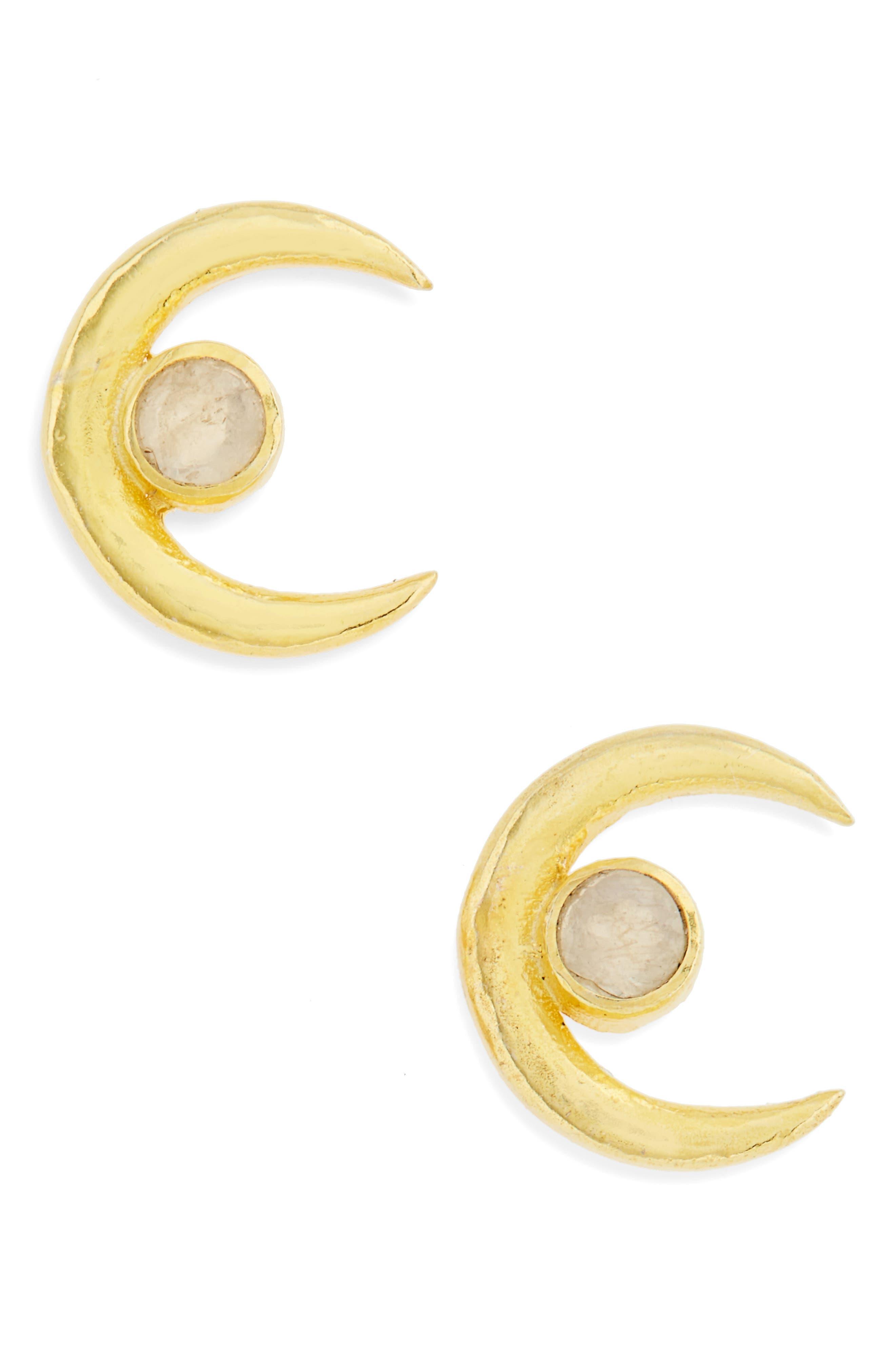 Karen London Crescent Stud Earrings