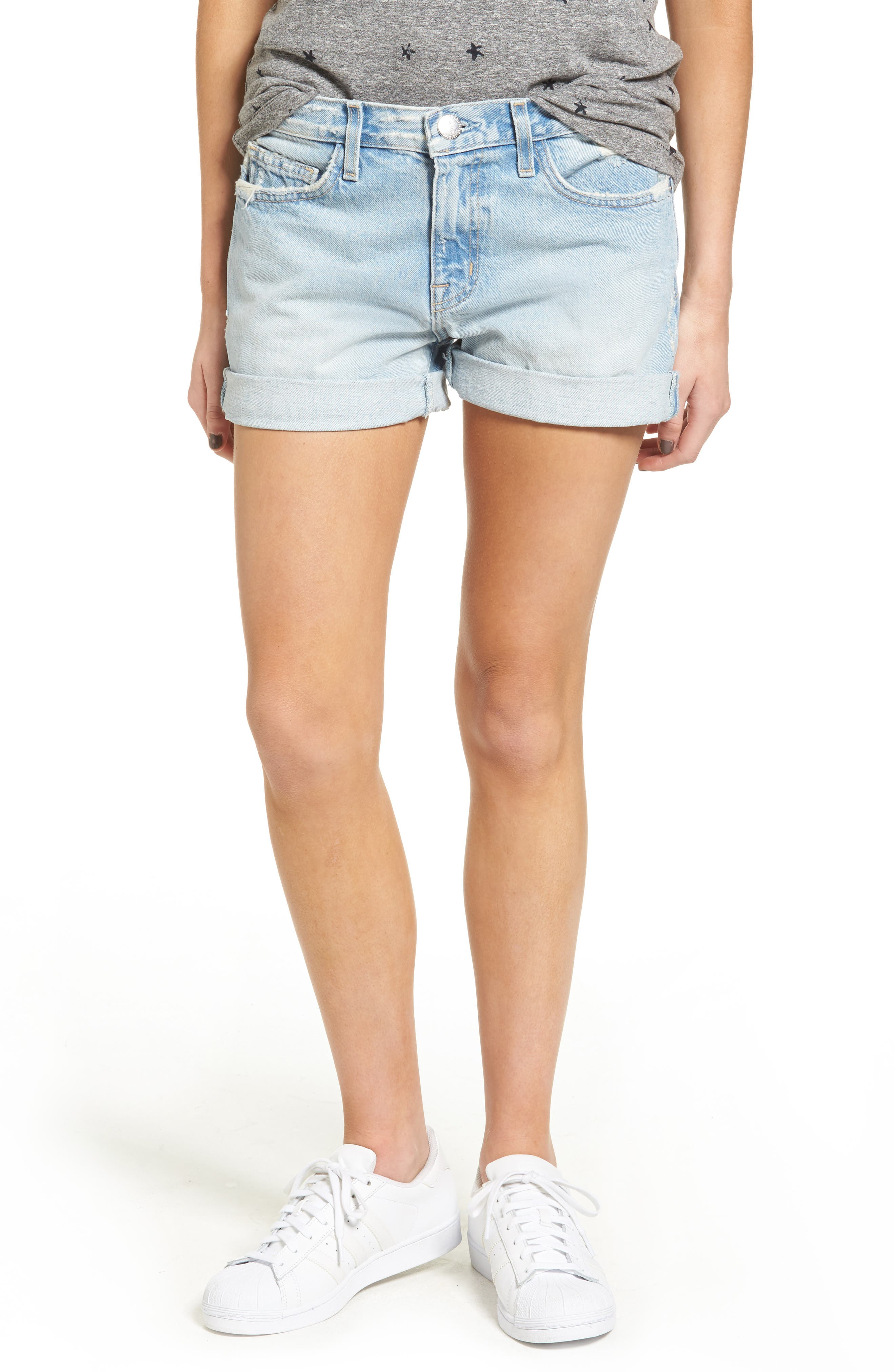 Current/Elliott The Boyfriend Denim Shorts (Alta Destroyed)