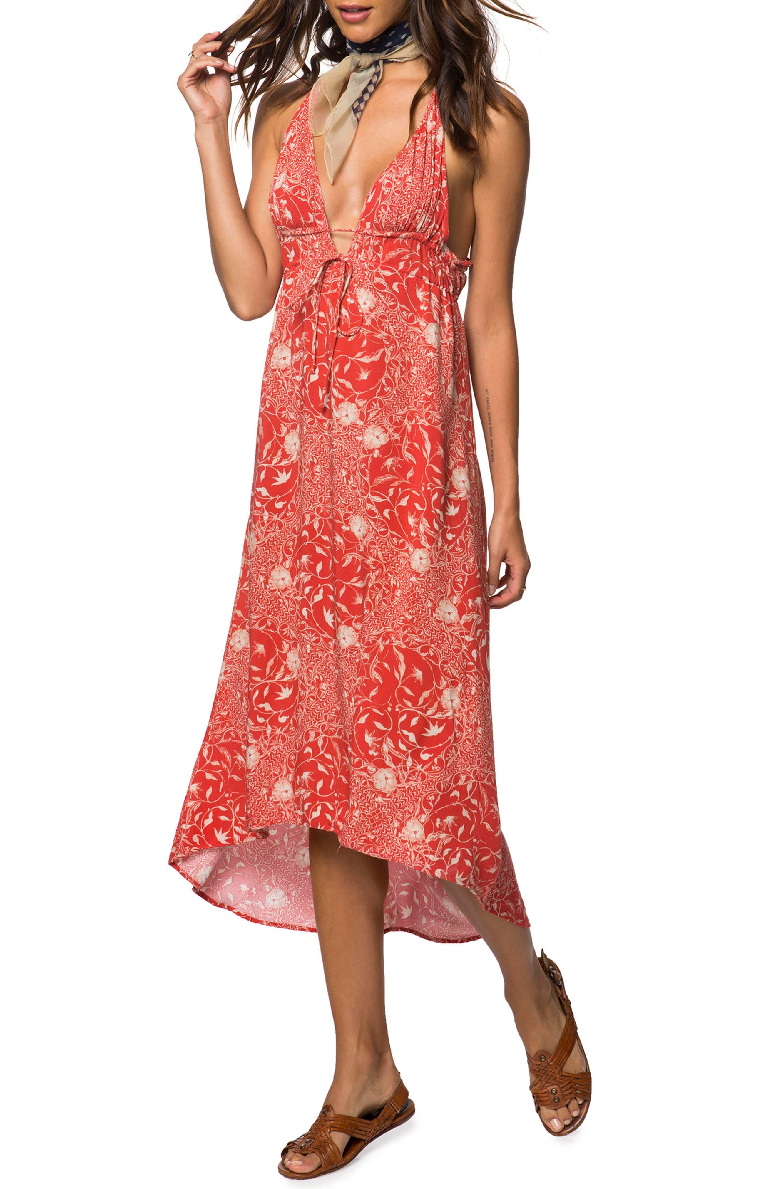 O'Neill Libre Halter Midi Dress