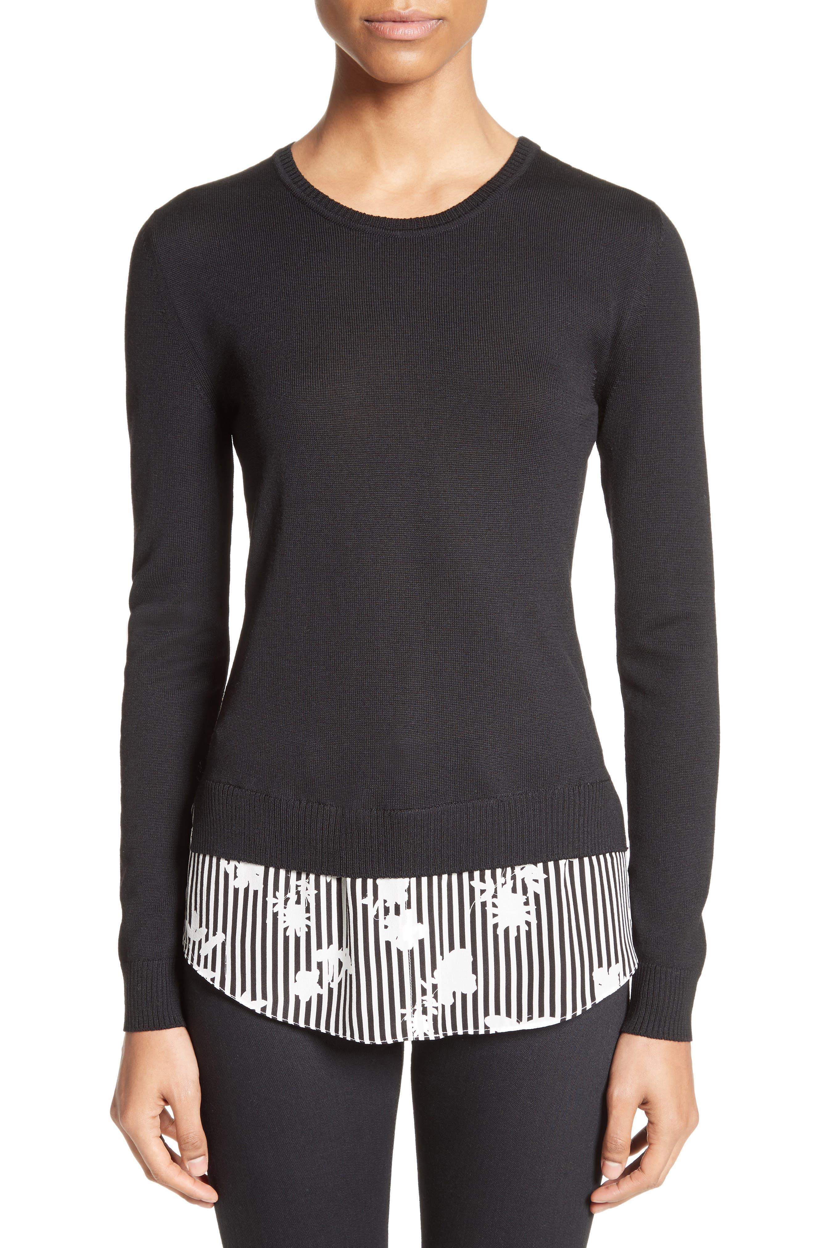 Altuzarra Elliot Merino Wool & Silk Shirttail Sweater