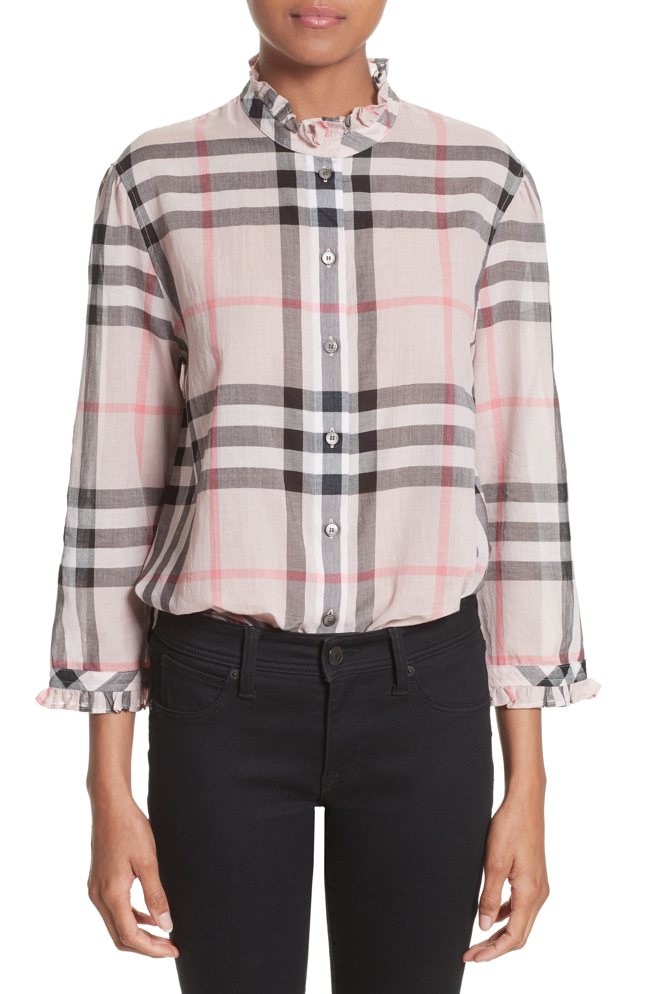 Burberry Salla Check Print Cotton Shirt