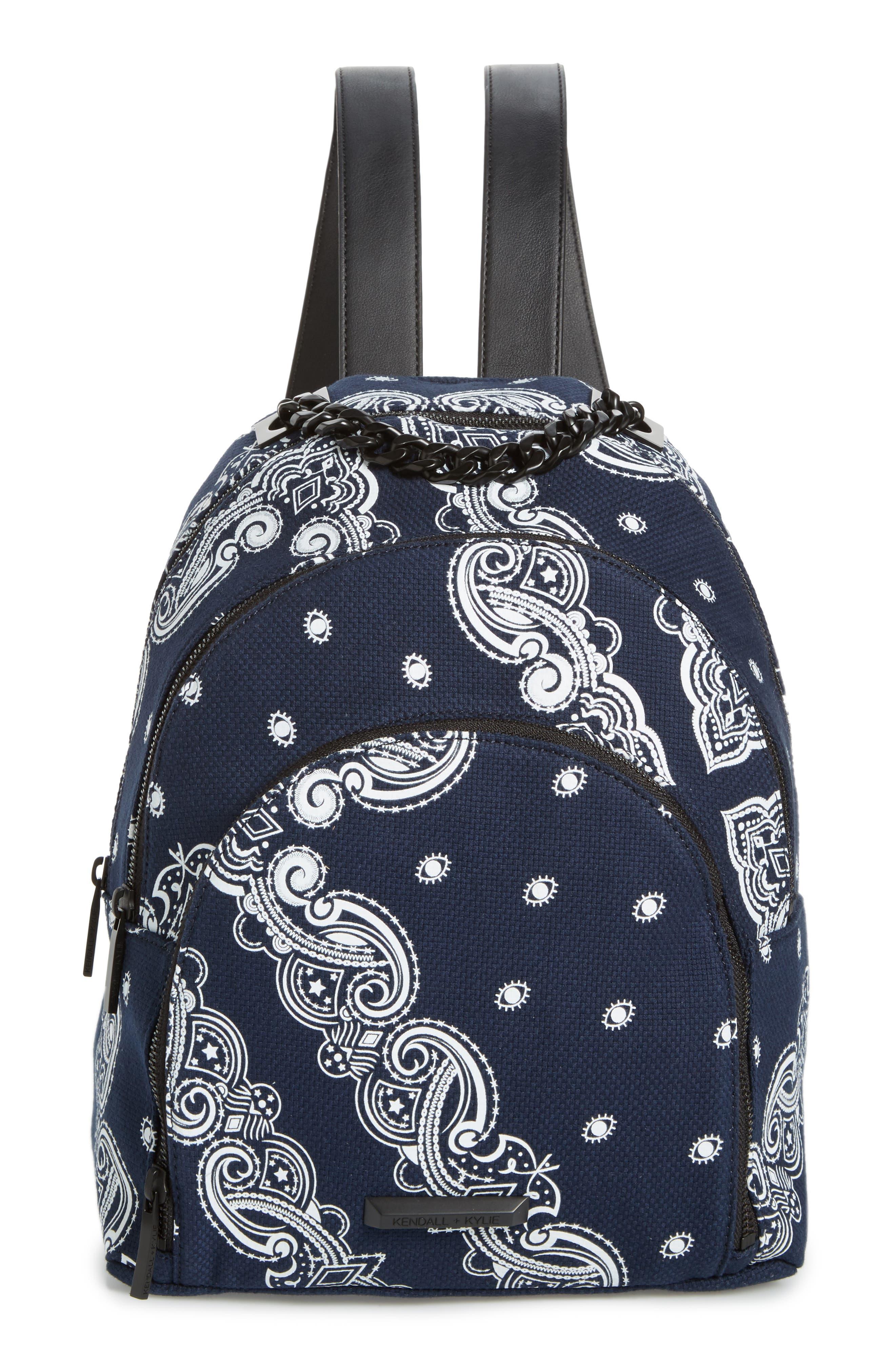 KENDALL + KYLIE Sloane Bandana Canvas Backpack