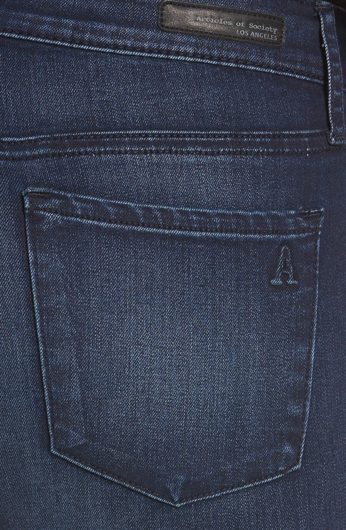 Alternate Image 4  - Articles of Society Carly Crop Skinny Jeans (Brooks)