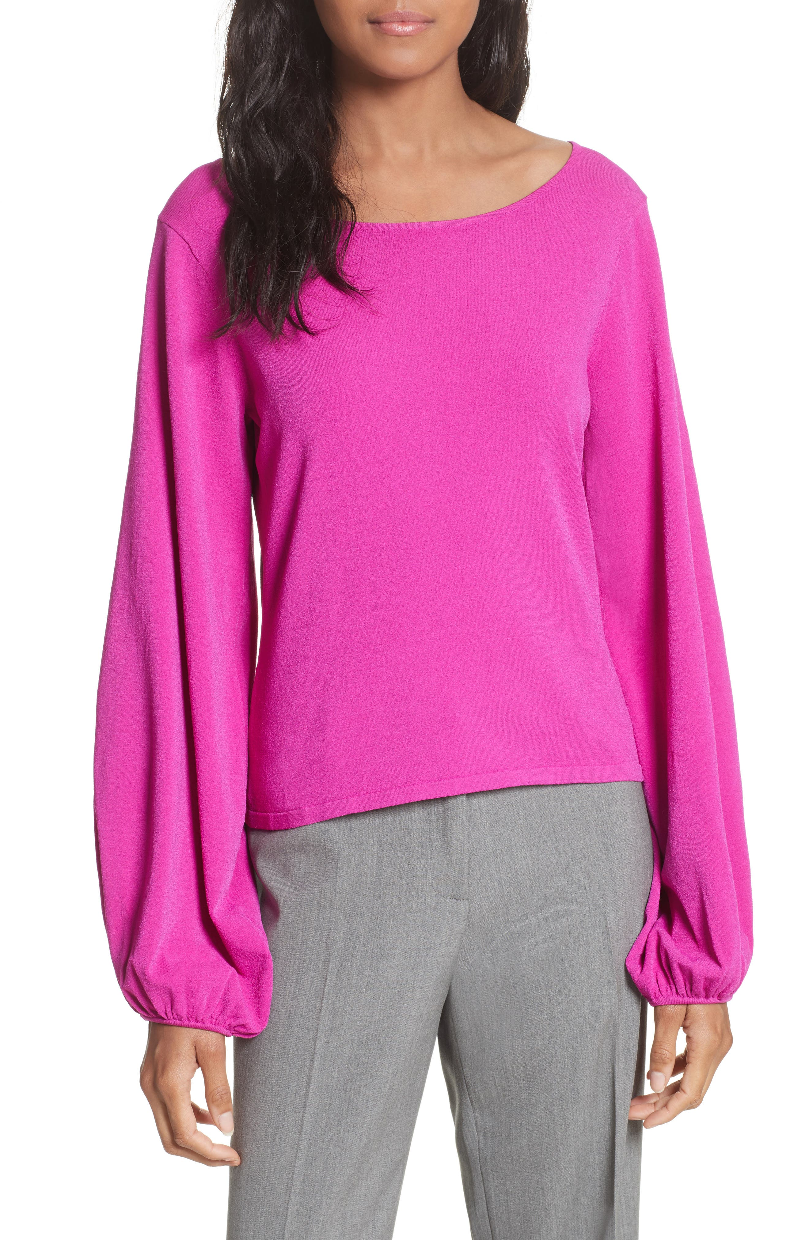 Milly Voluminous Sleeve Sweater