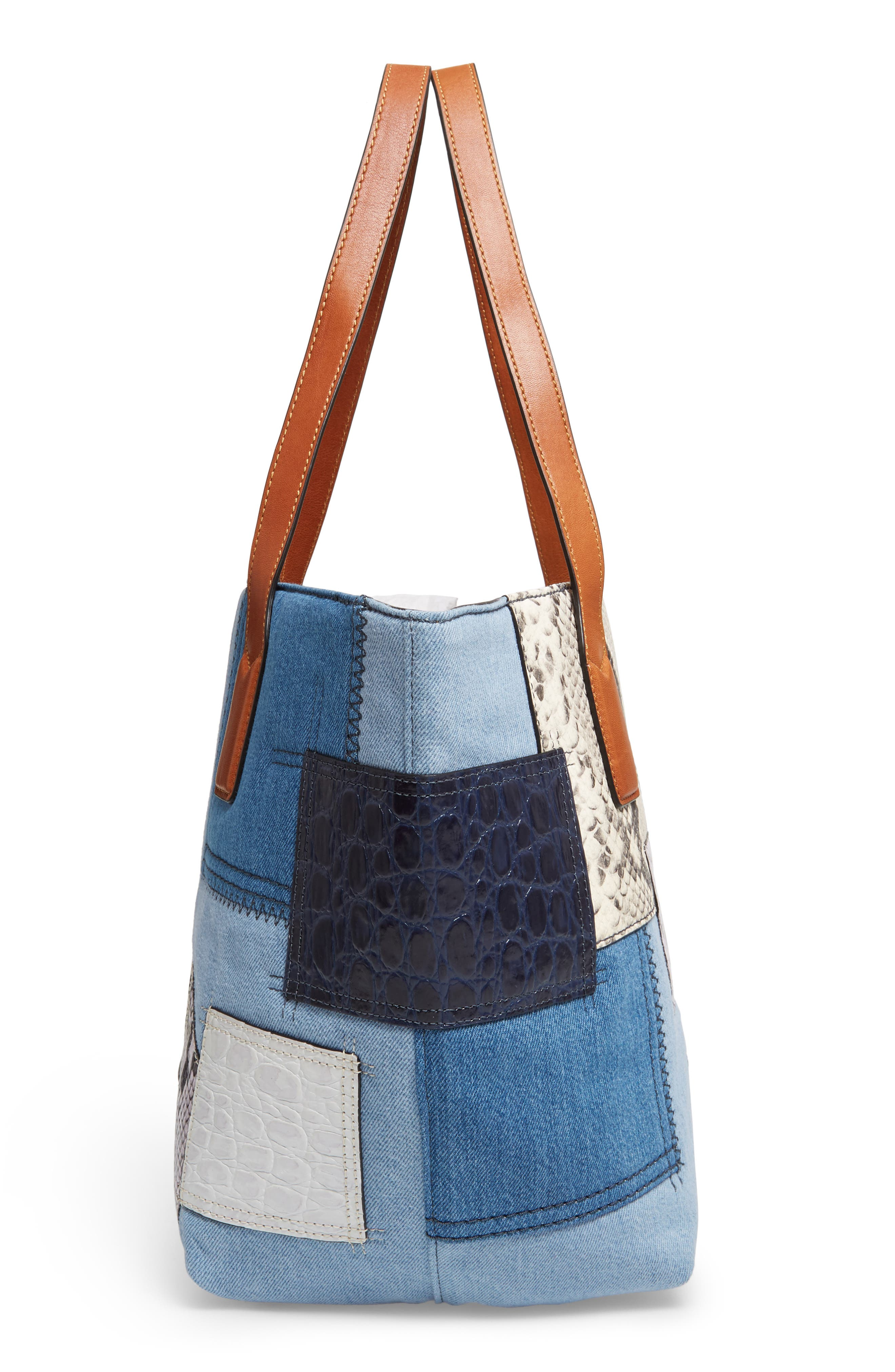 Alternate Image 4  - MARC JACOBS Wingman Denim Patchwork Tote
