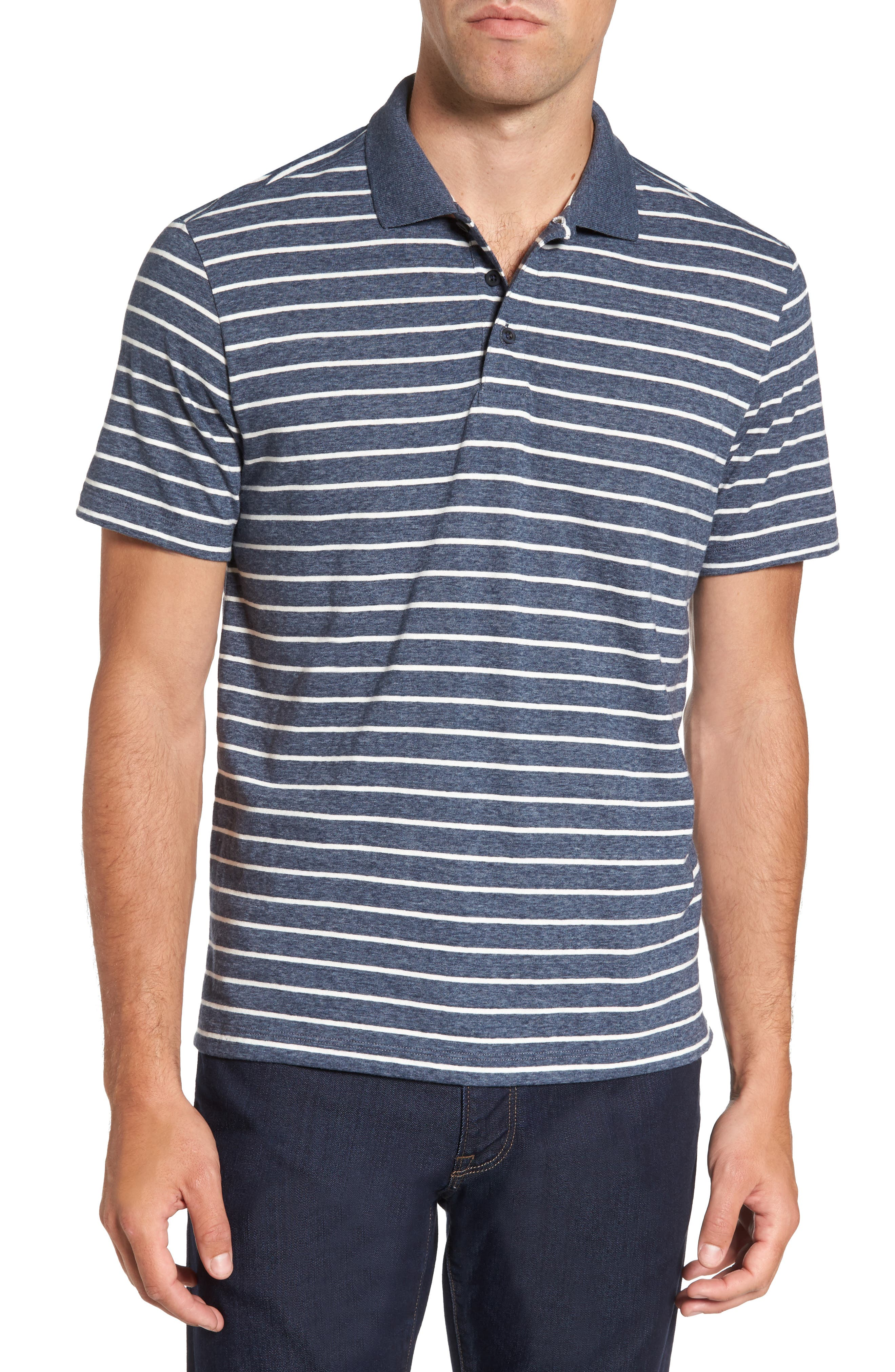 Nordstrom Men's Shop Heathered Stripe Jersey Polo