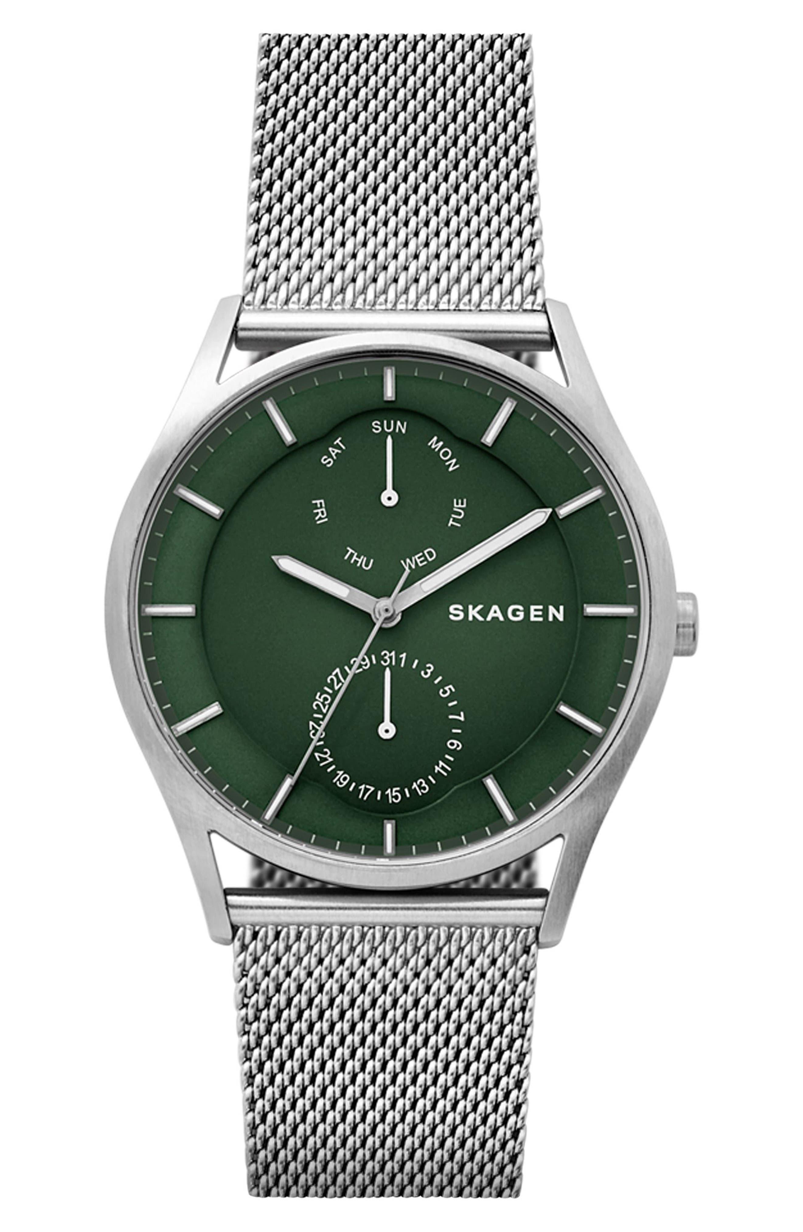 Skagen Holst Multifunction Mesh Strap Watch, 40mm