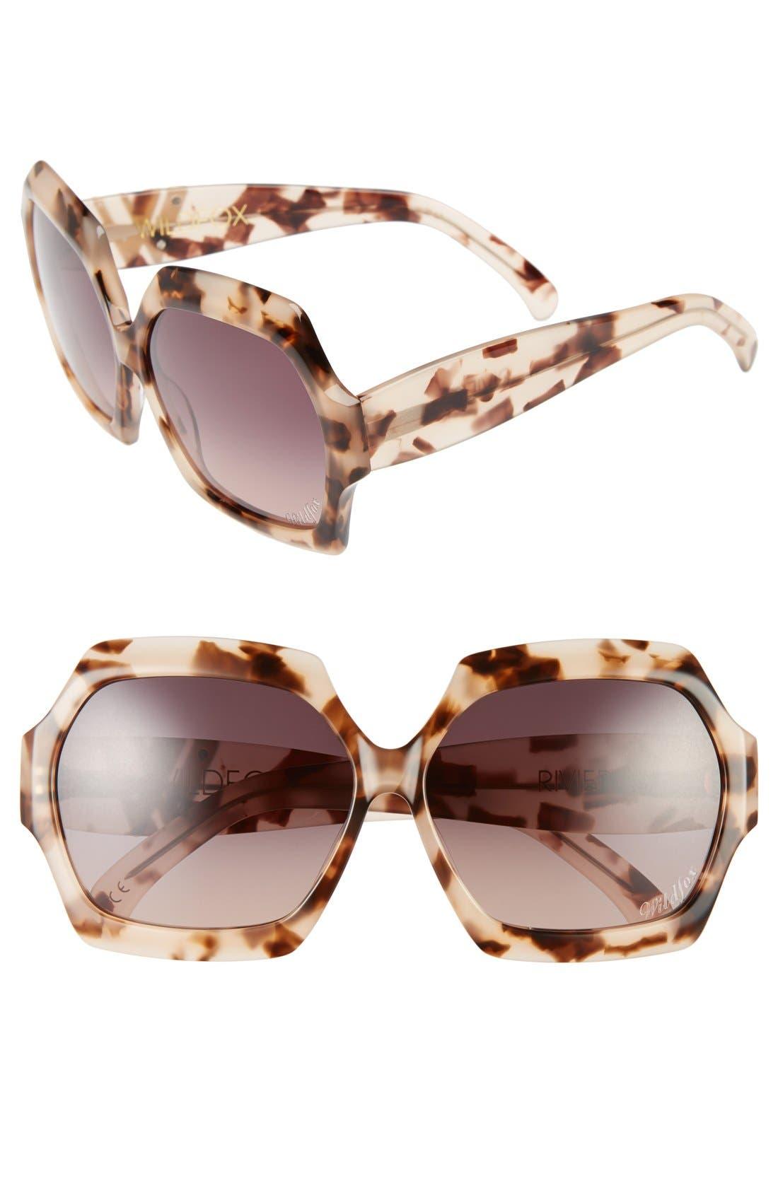 Main Image - Wildfox 'Riviera' 65mm Sunglasses