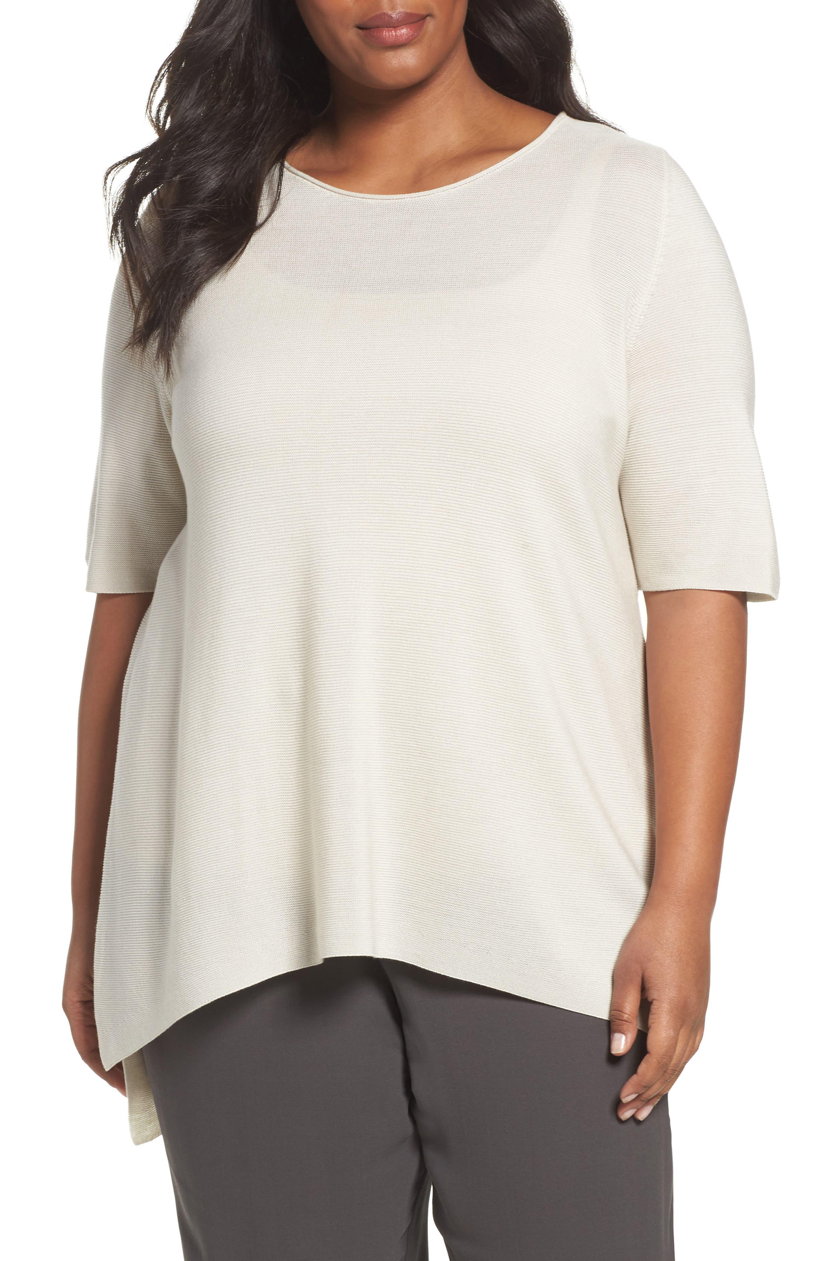 Eileen Fisher Tencel® Knit Top (Plus Size)