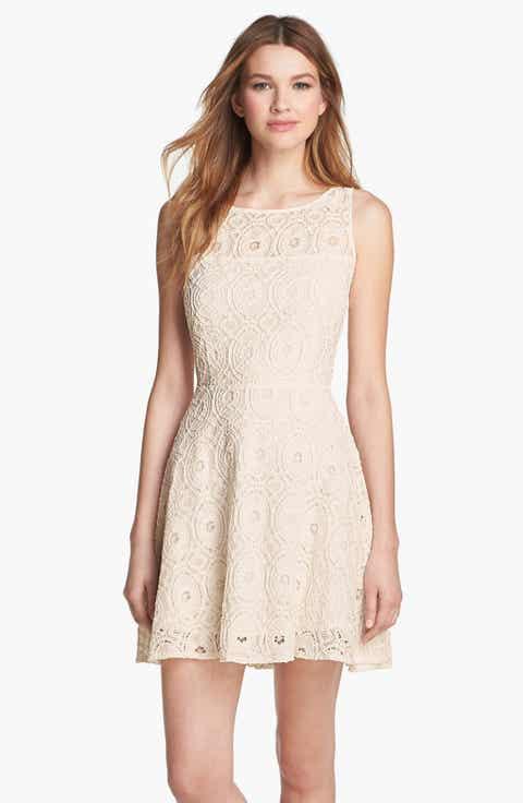BB Dakota 'Renley' Lace Fit   Flare Dress (Nordstrom Exclusive)