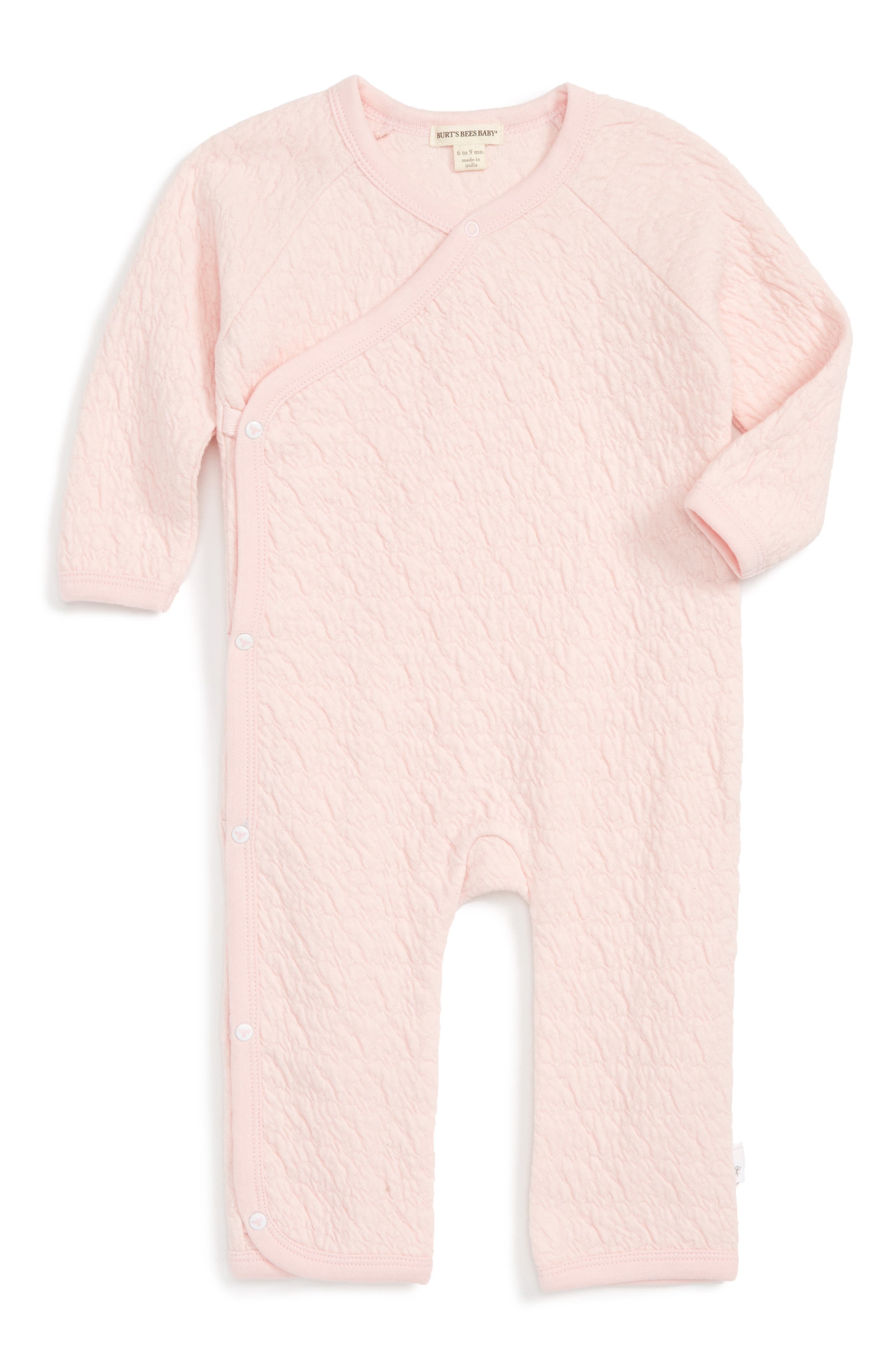 Burt's Bees Baby Quilted Organic Cotton Romper (Baby Girls)
