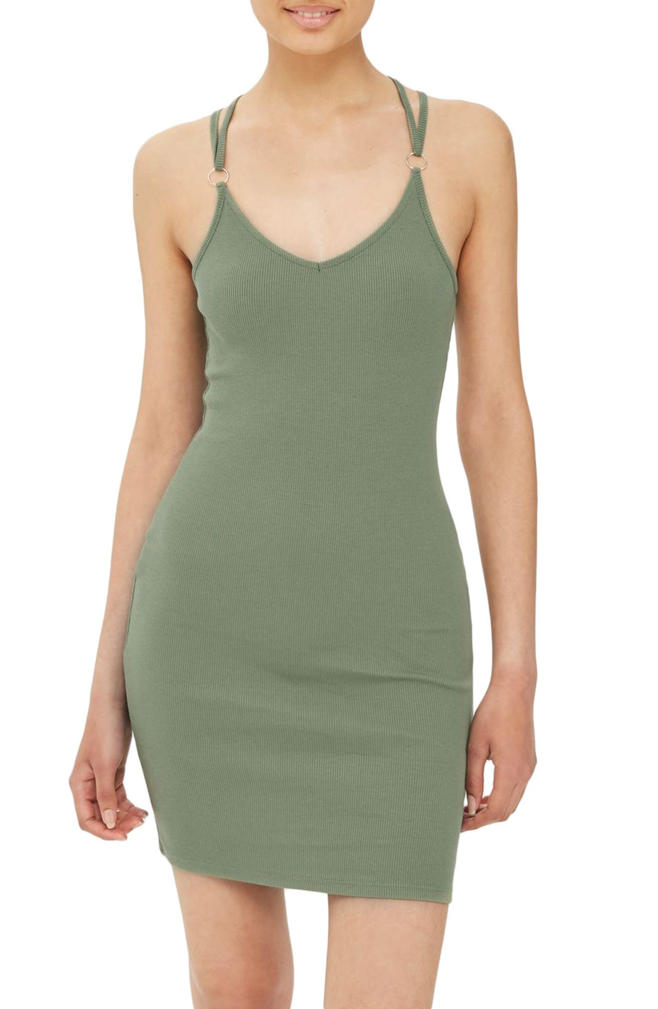 Topshop Strappy Back Body-Con Dress