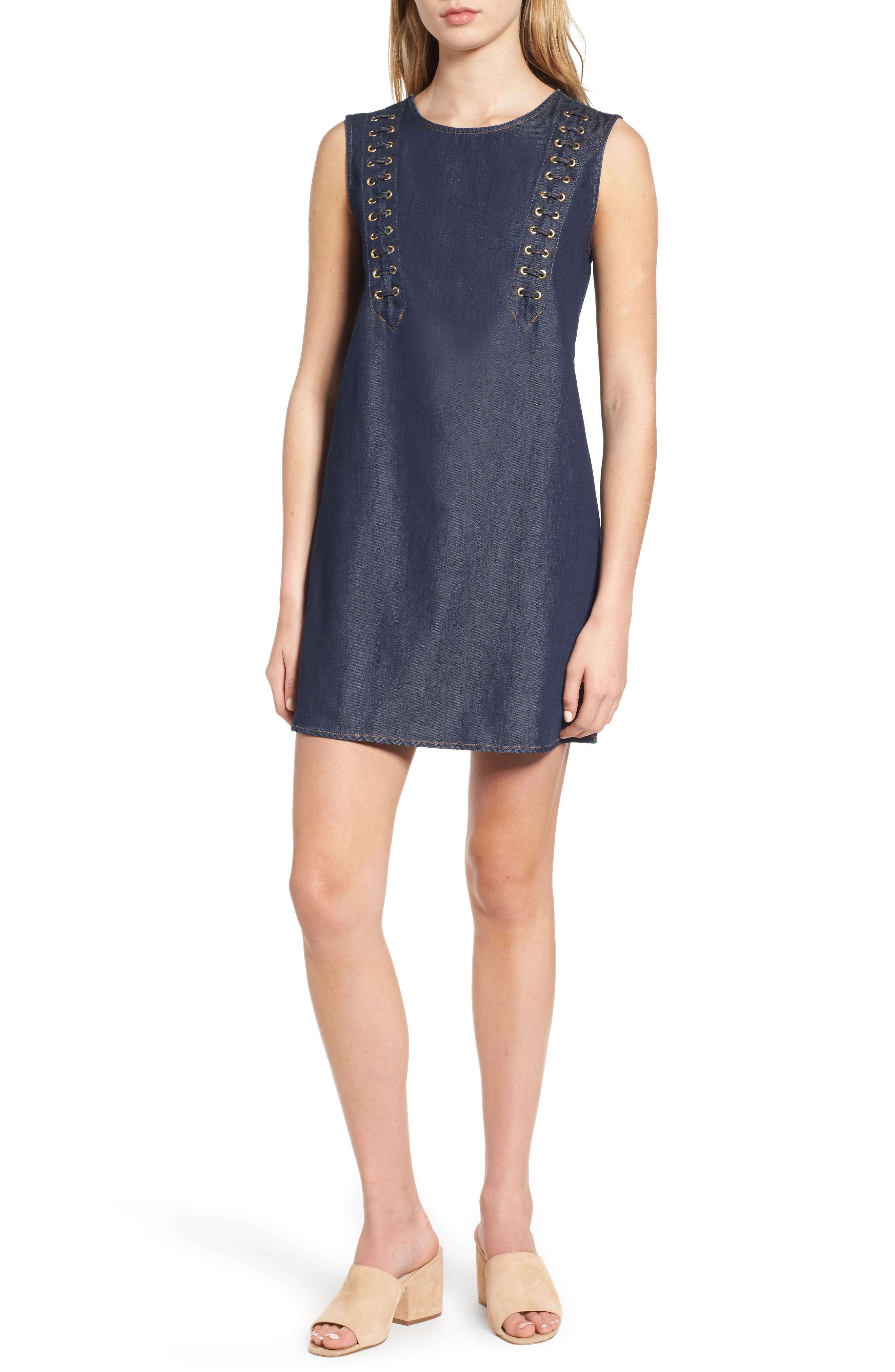 True Religion Brand Jeans Lace-Up Dress