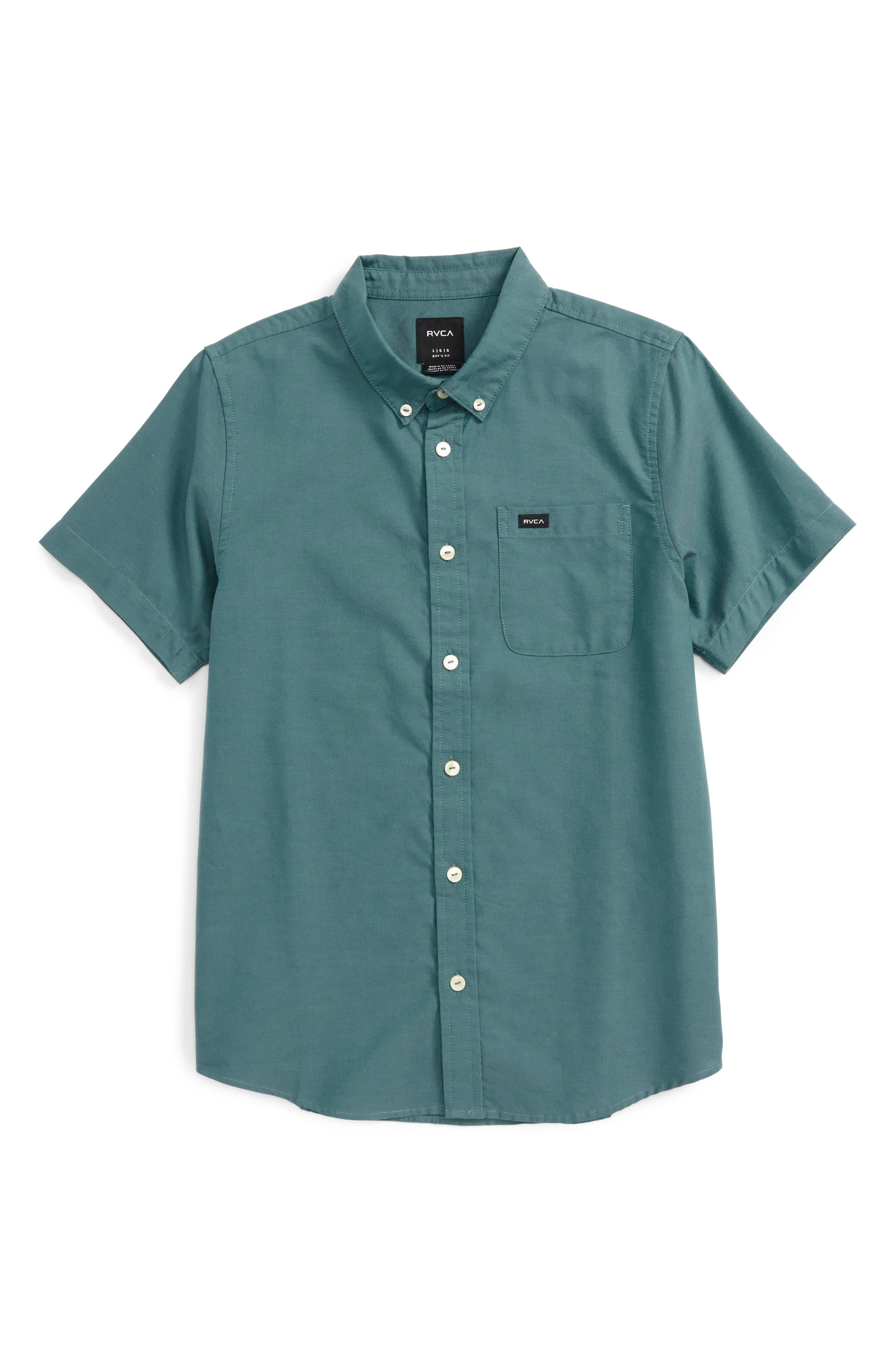 Alternate Image 1 Selected - RVCA 'That'll Do' Woven Shirt (Big Boys)