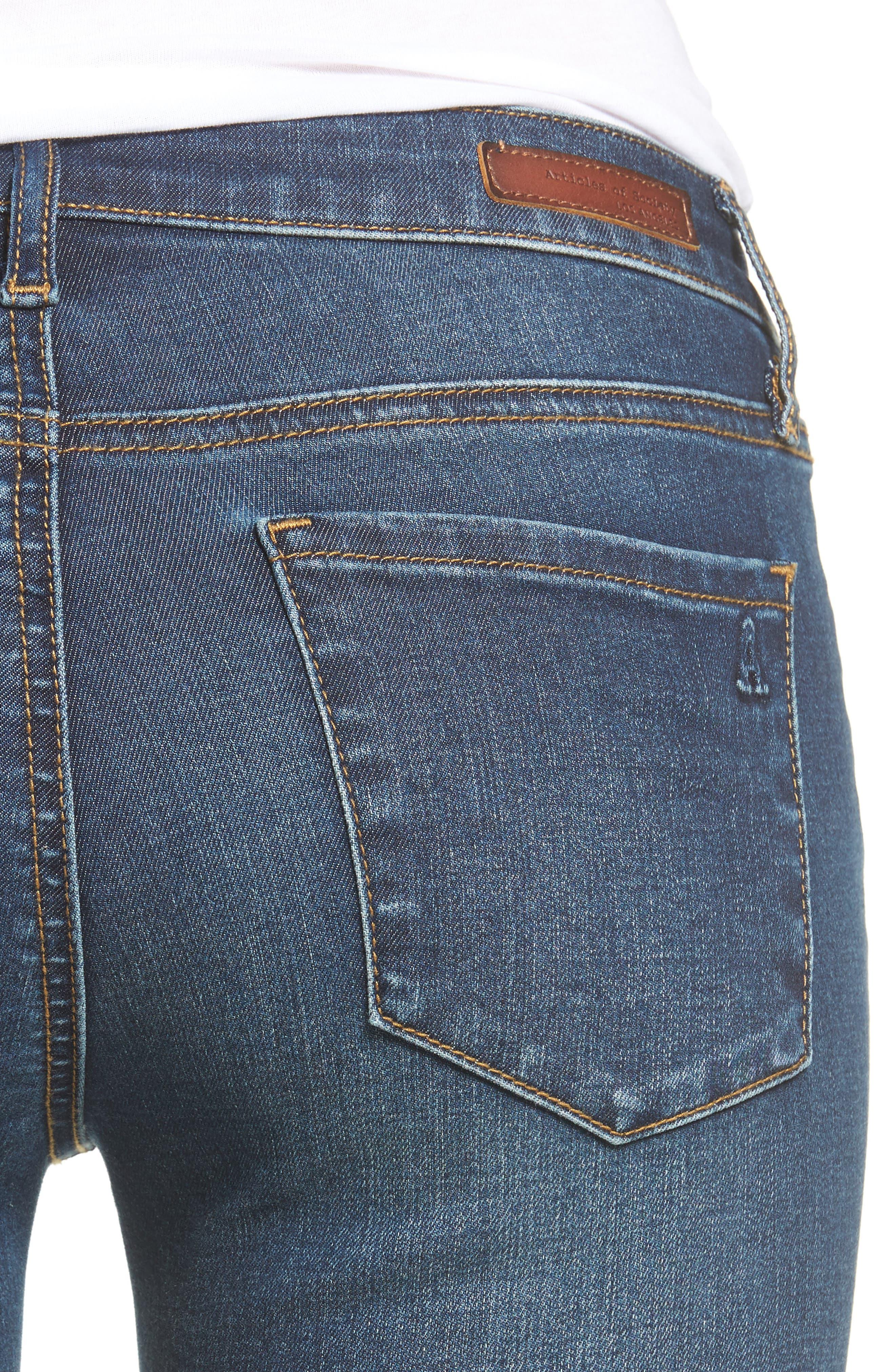 Alternate Image 5  - Articles of Society Mya Skinny Jeans (Glendale)