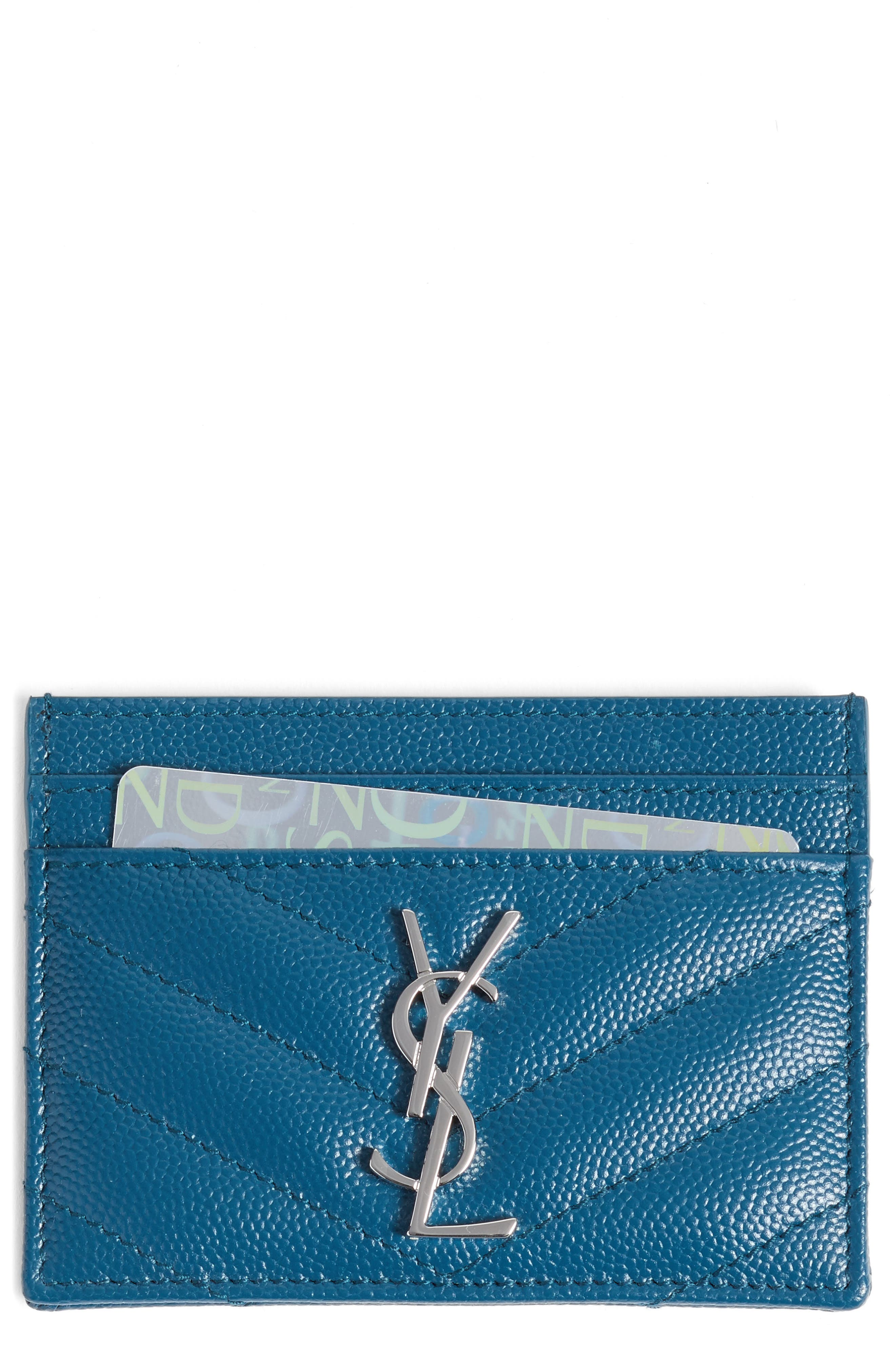 Saint Laurent 'Monogram' Credit Card Case