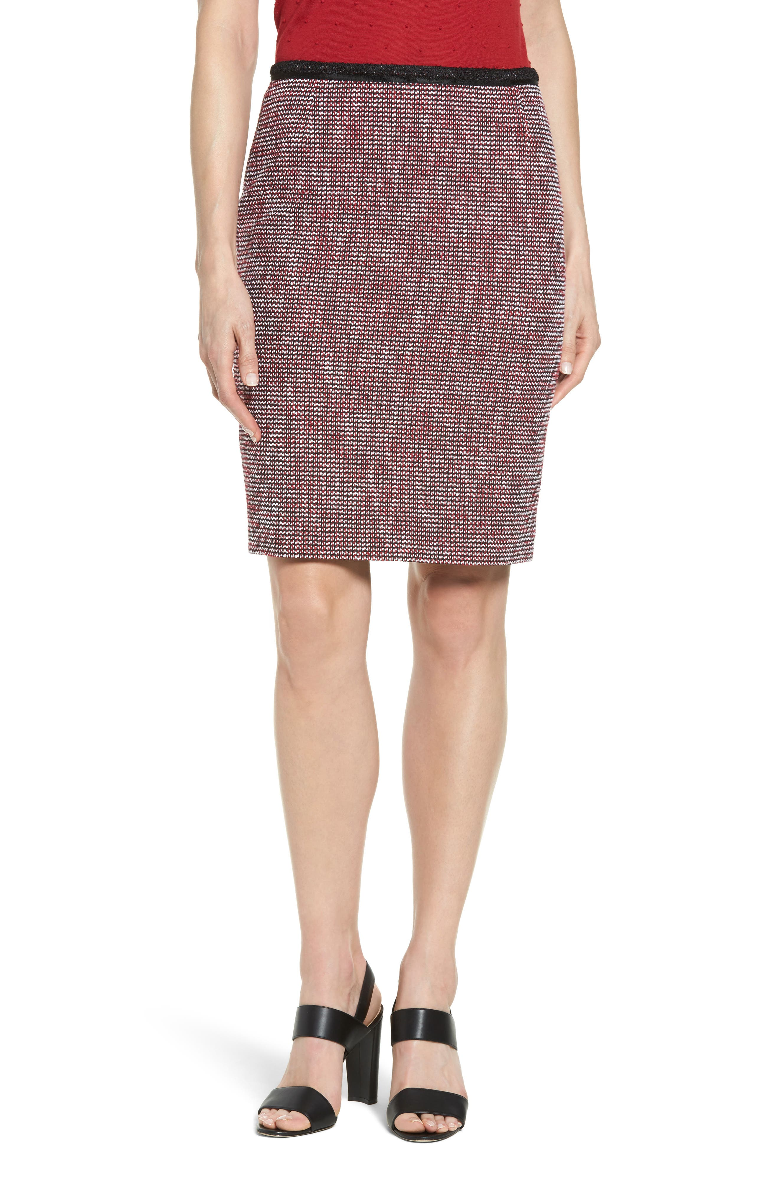 BOSS Mabira Tweed Suit Skirt