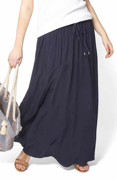 Evans Crinkle Maxi Skirt (Plus Size)