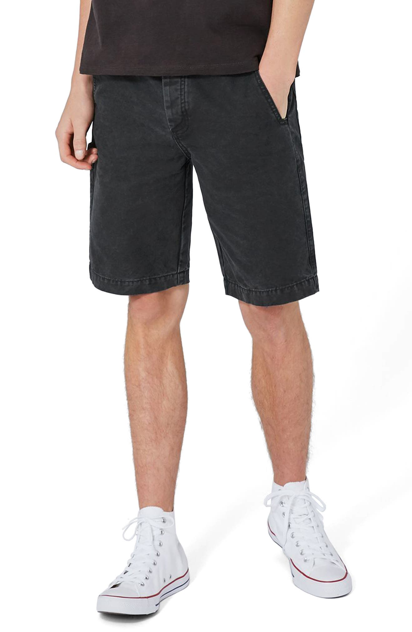 Topman Washed Carpenter Shorts