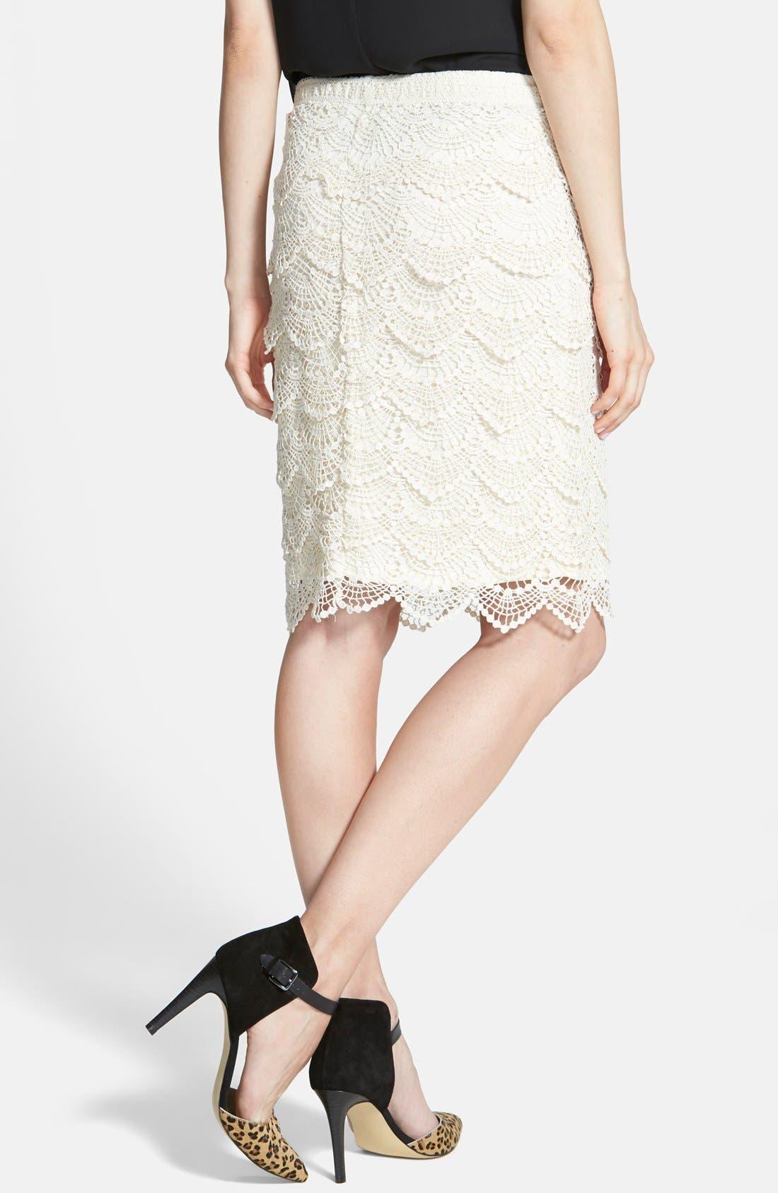 Alternate Image 2  - Jolt Crochet Midi Skirt (Juniors)