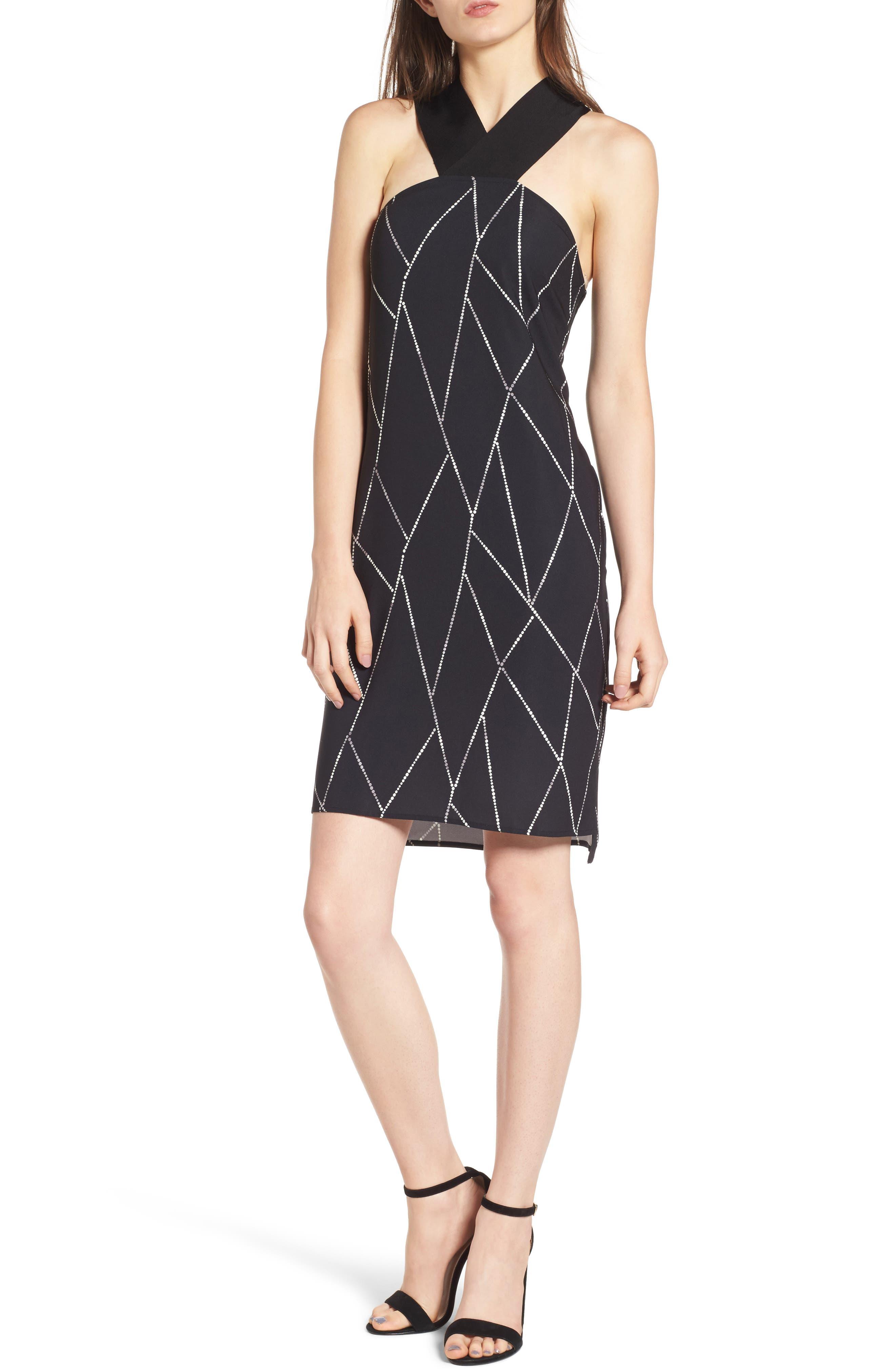 Trouvé Geo Print Cross Back Dress