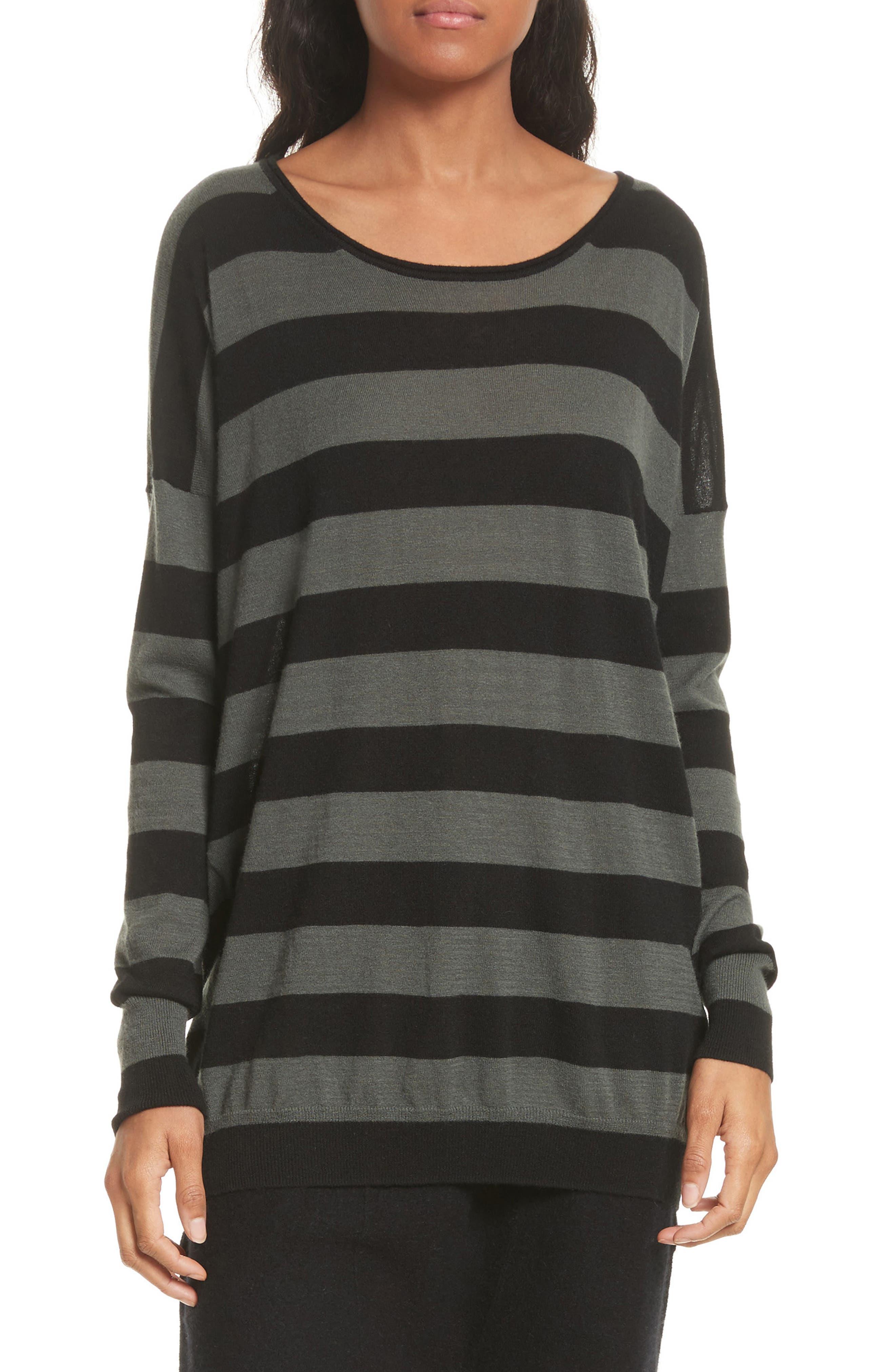 Vince Wide Stripe Wool & Cashmere Sweater