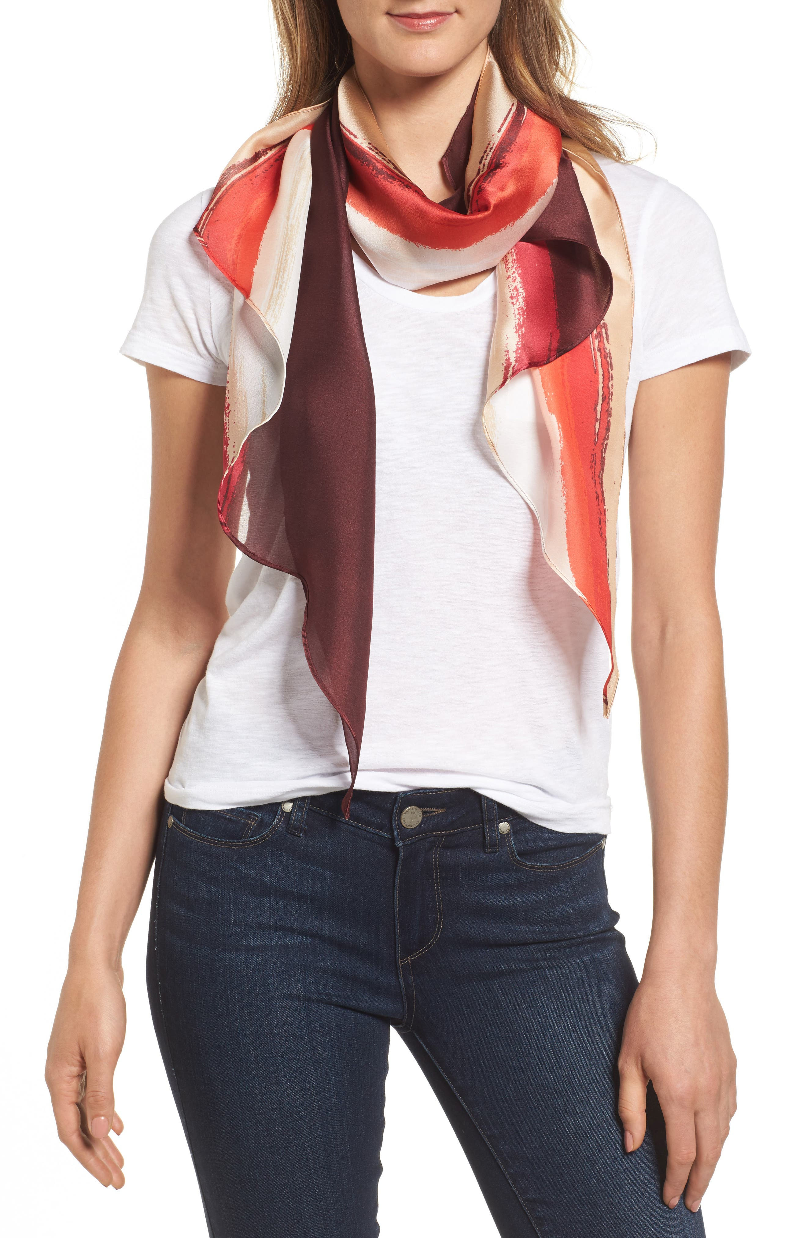 Vince Camuto Paint Splice Oblong Scarf