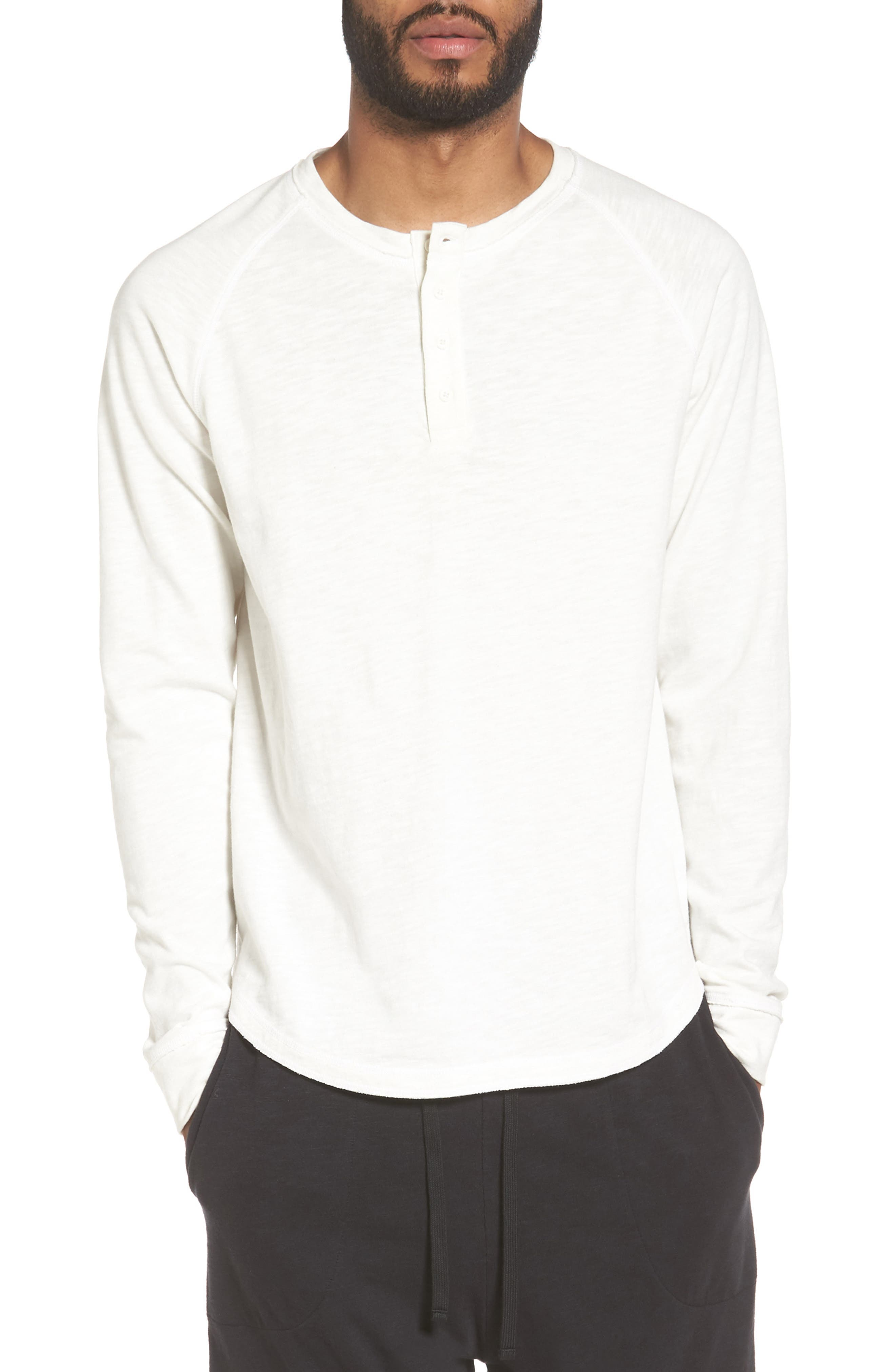 Vince Slub Long Sleeve Henley