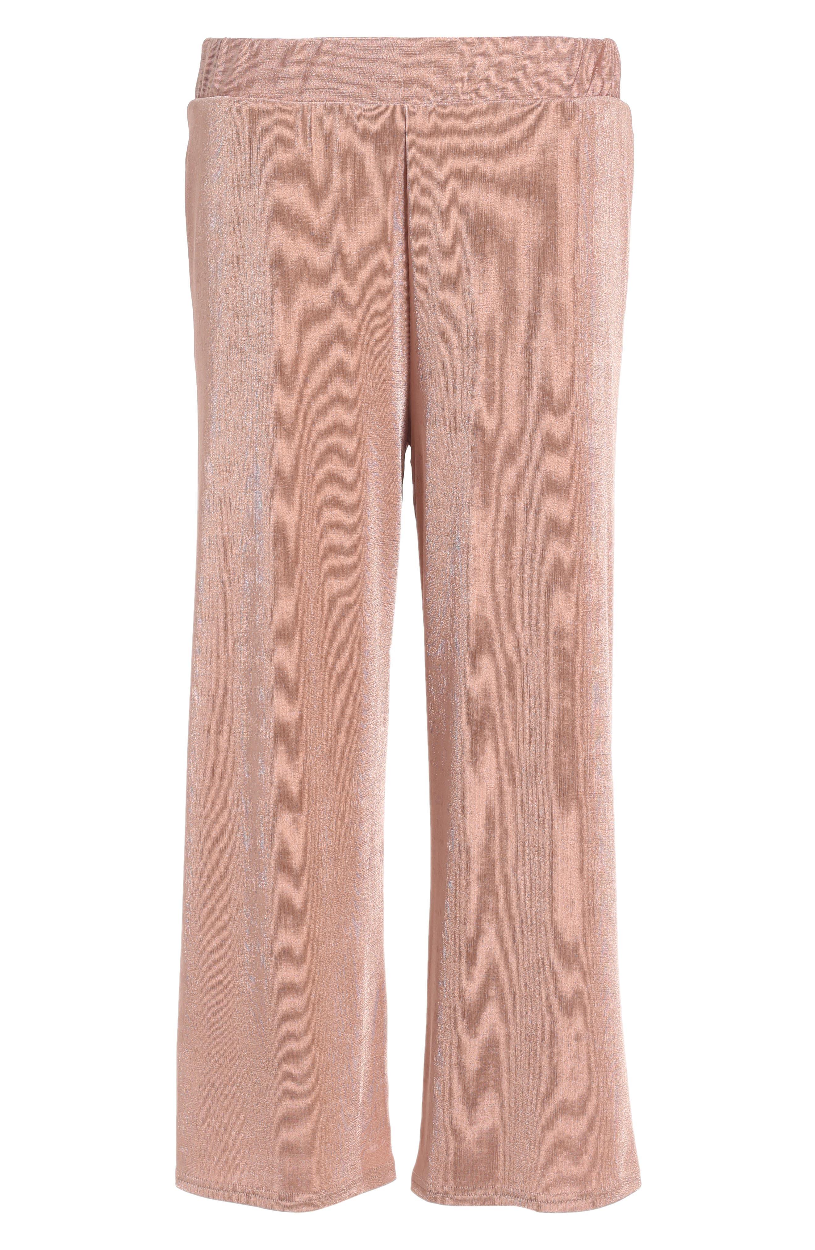 Topshop Textured Wide Leg Pants