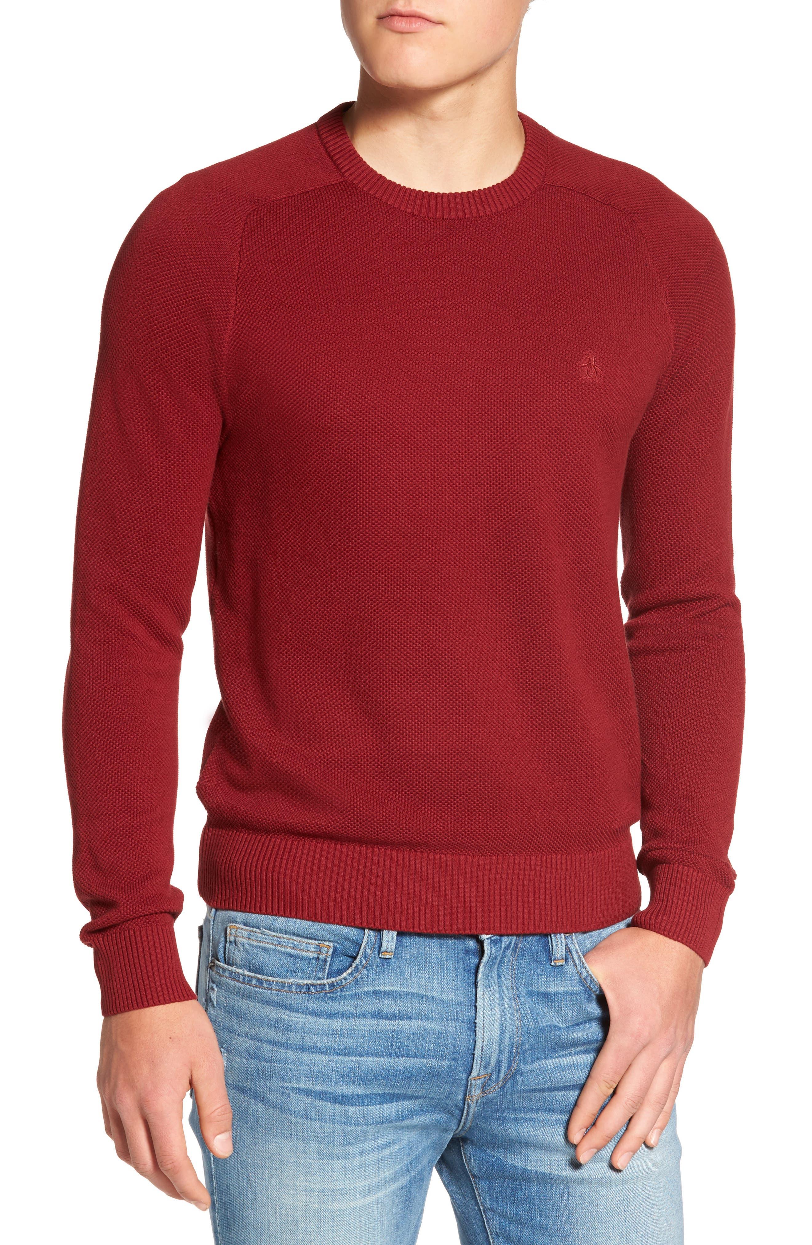 Original Penguin Honeycomb Sweater