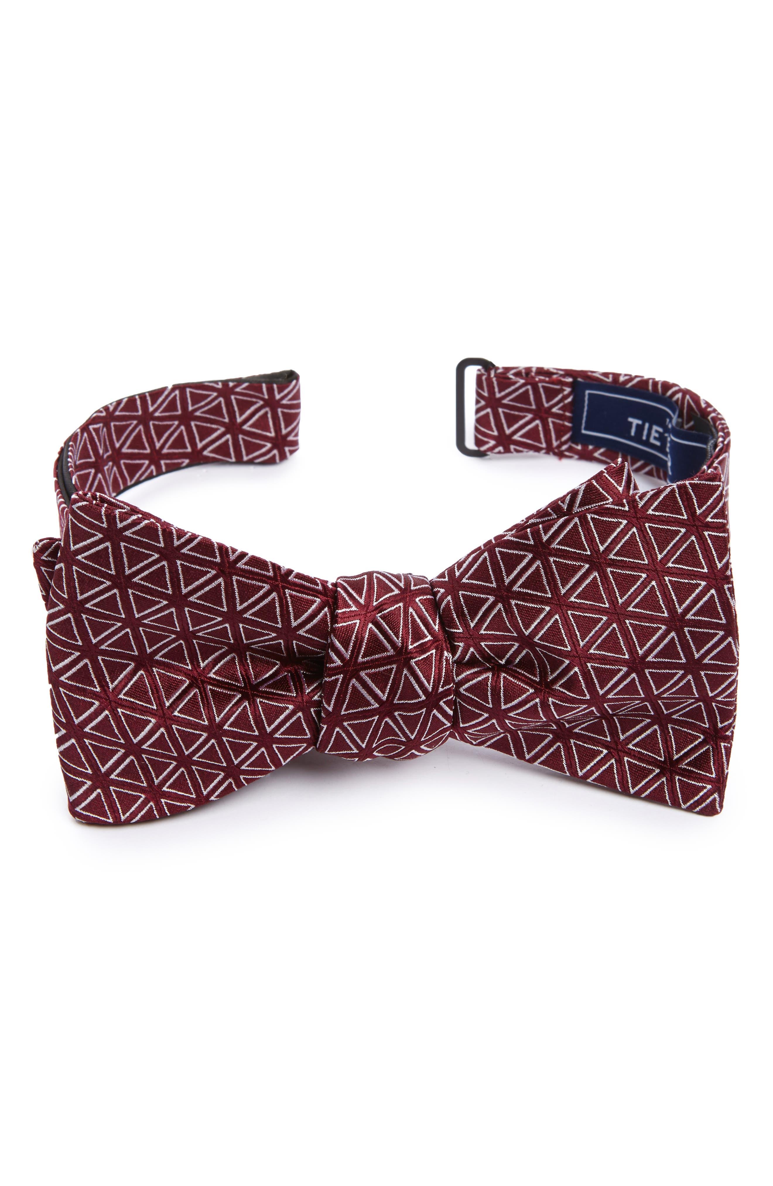 The Tie Bar Triad Silk Bow Tie