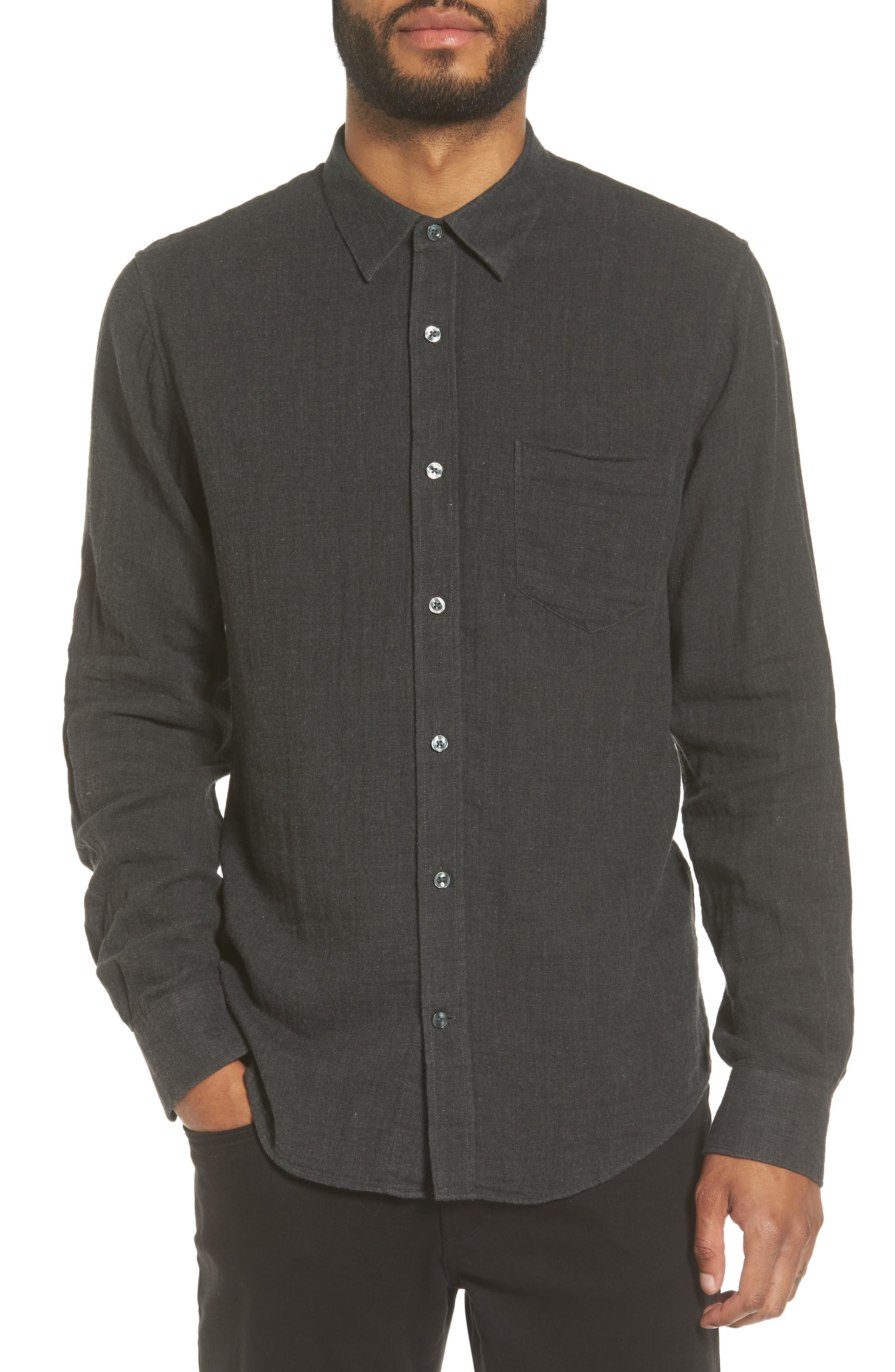 Vince Regular Fit Solid Sport Shirt