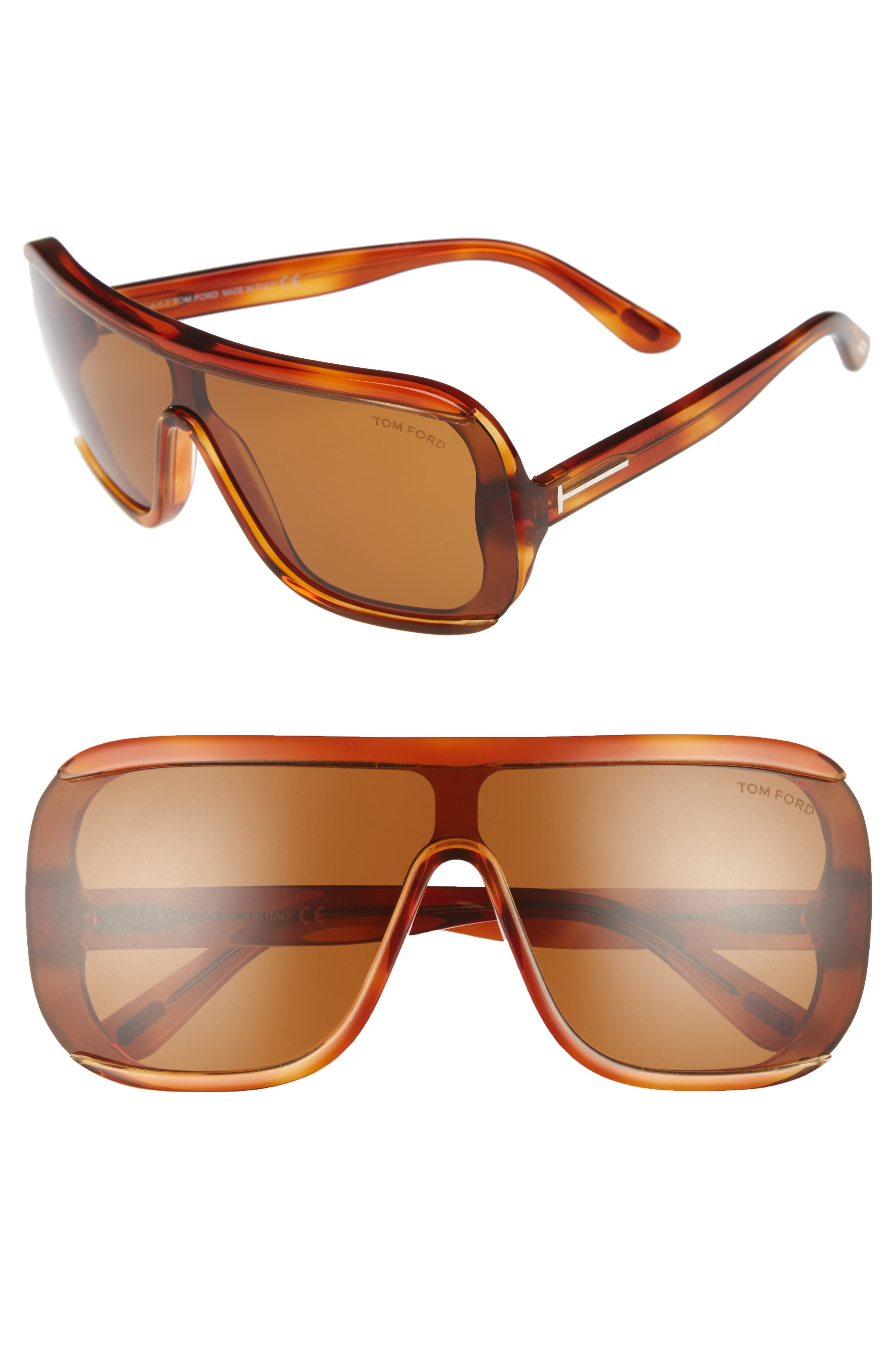 Tom Ford Porfirio 135mm One-Piece Lens Shield Sunglasses