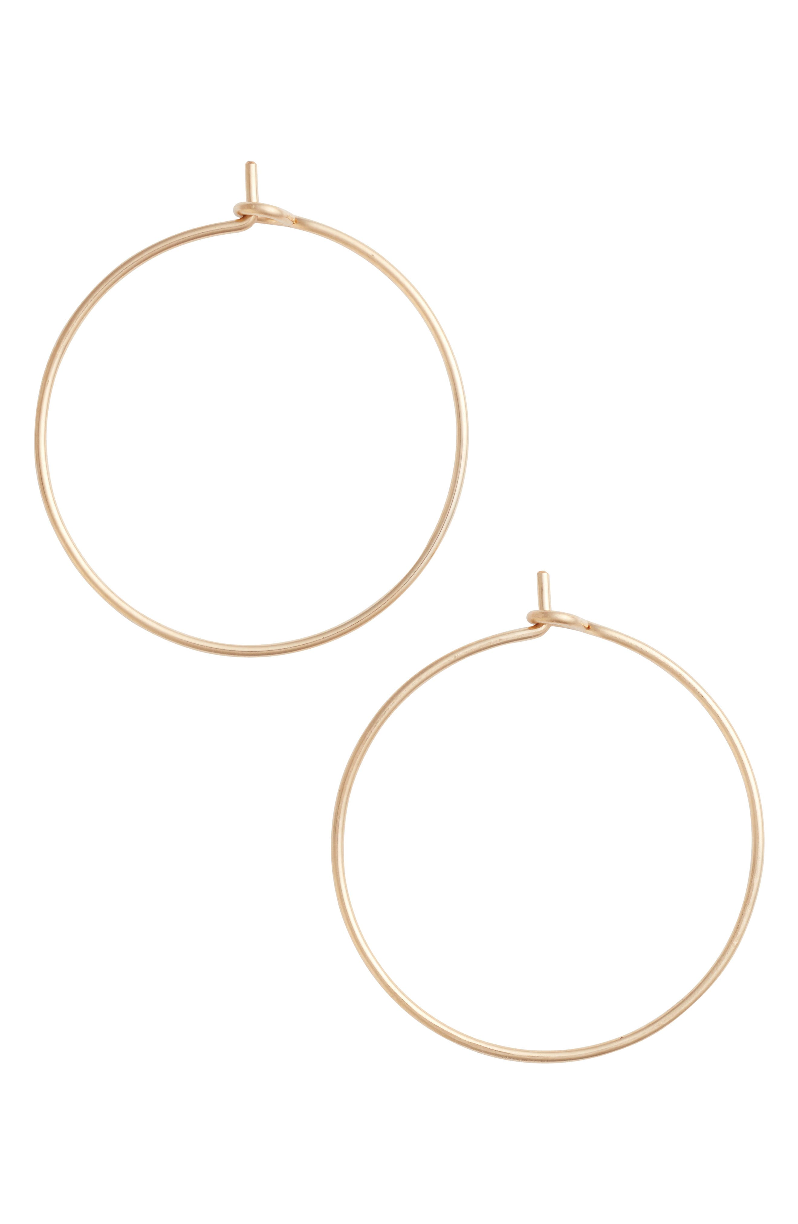 Nashelle Medium Pure Hoop Earrings