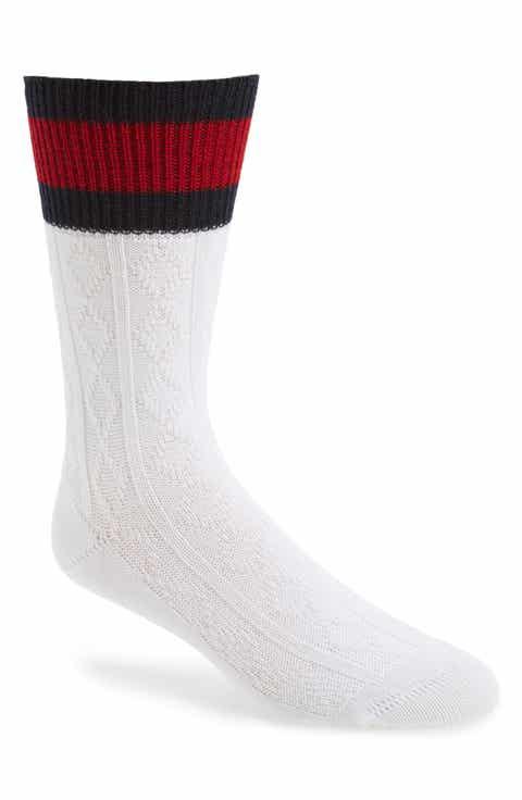 Gucci Stripe Cable Knit Sock