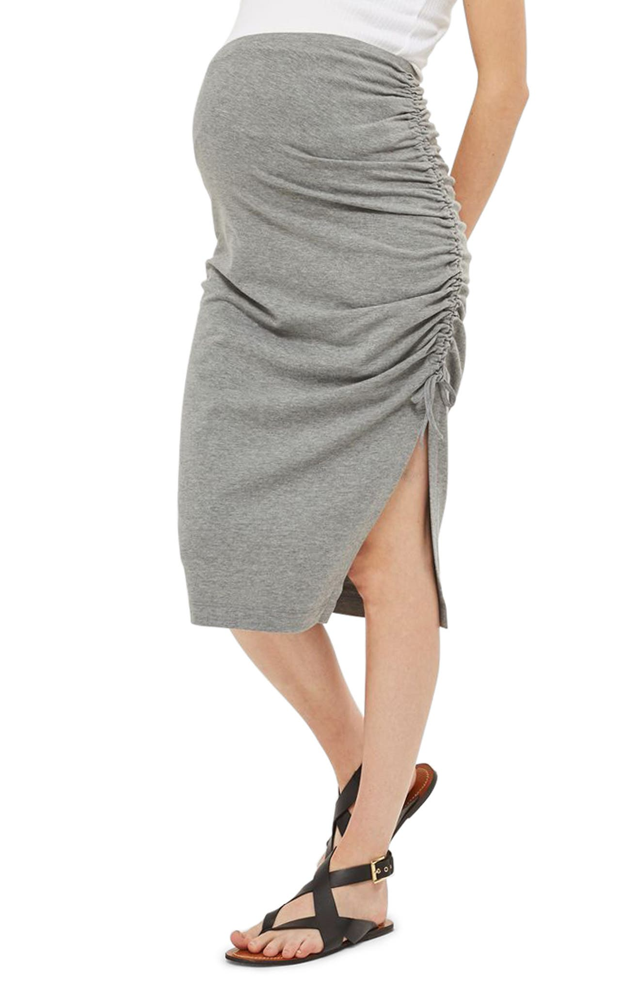 Topshop Ruched Maternity Pencil Skirt