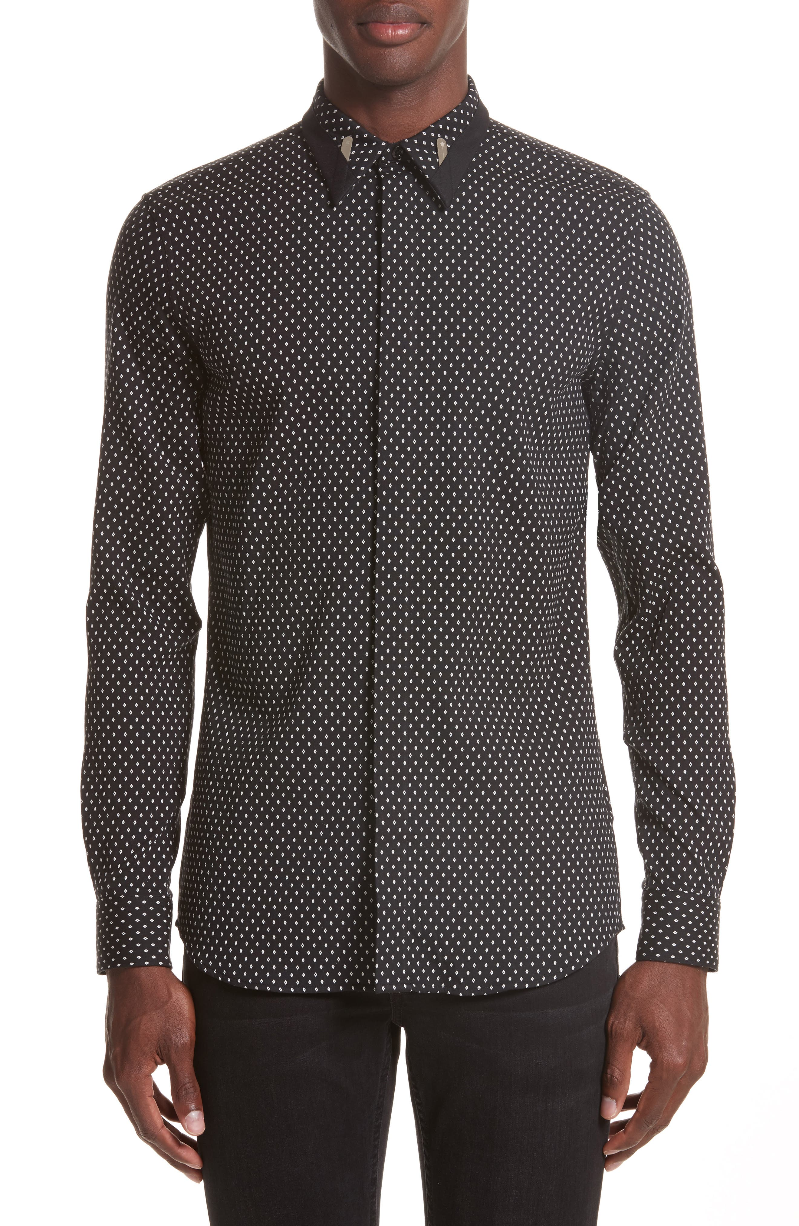 Givenchy Jacquard Collar Stay Shirt