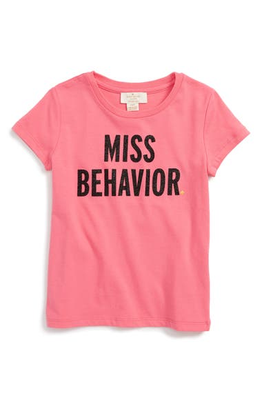 kate spade new york miss behavior graphic tee (Big Girls)
