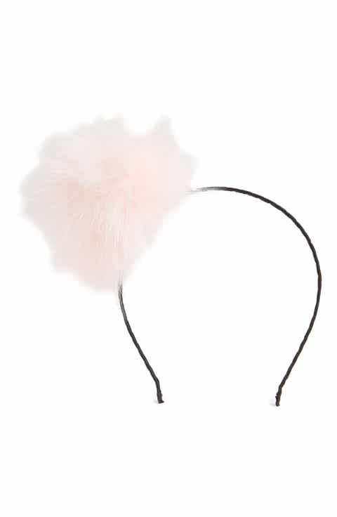 Cara Faux Fur Pom Headband (Big Girls)