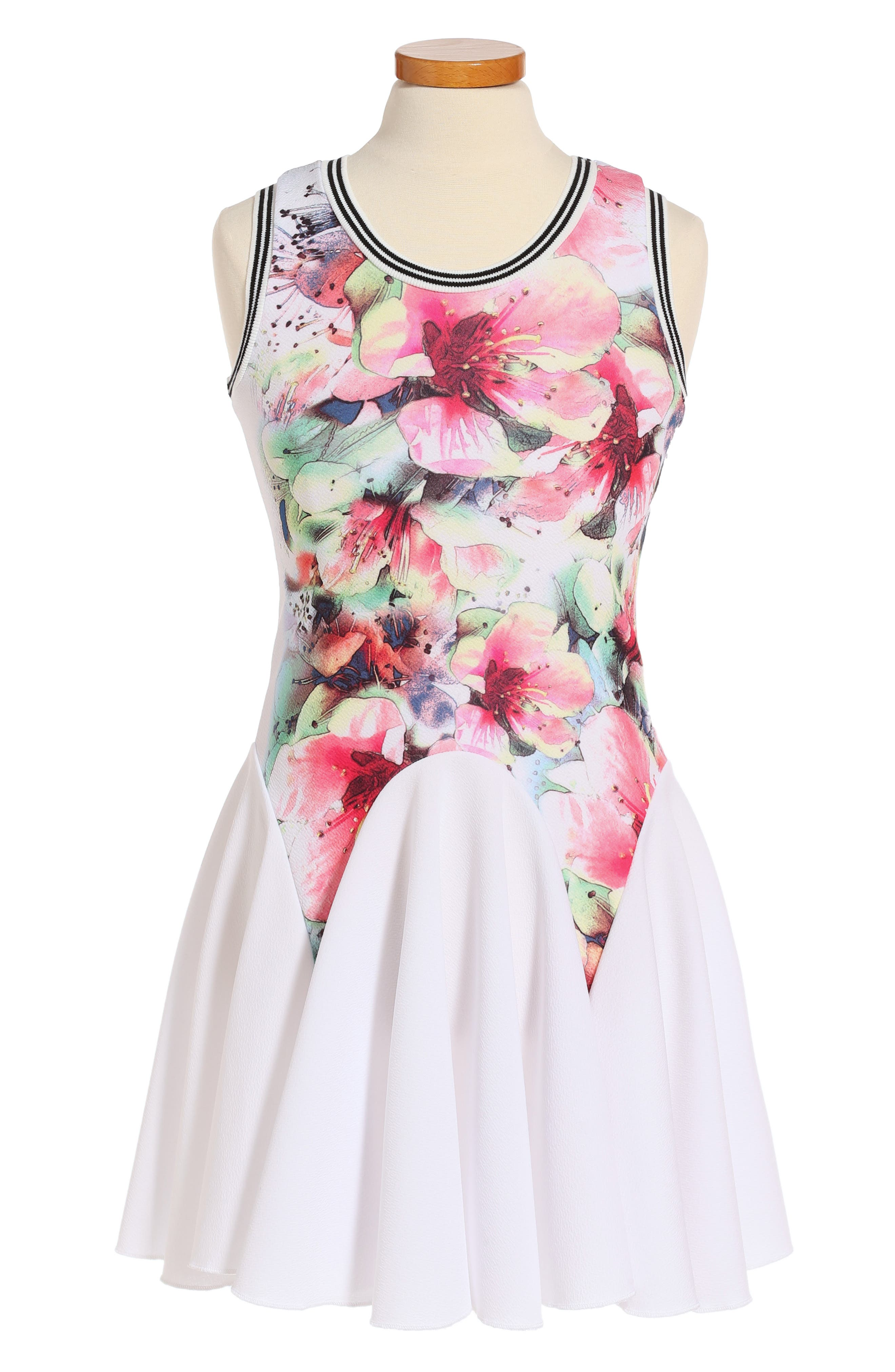 Twirls & Twigs Floral Skater Dress (Big Girls)
