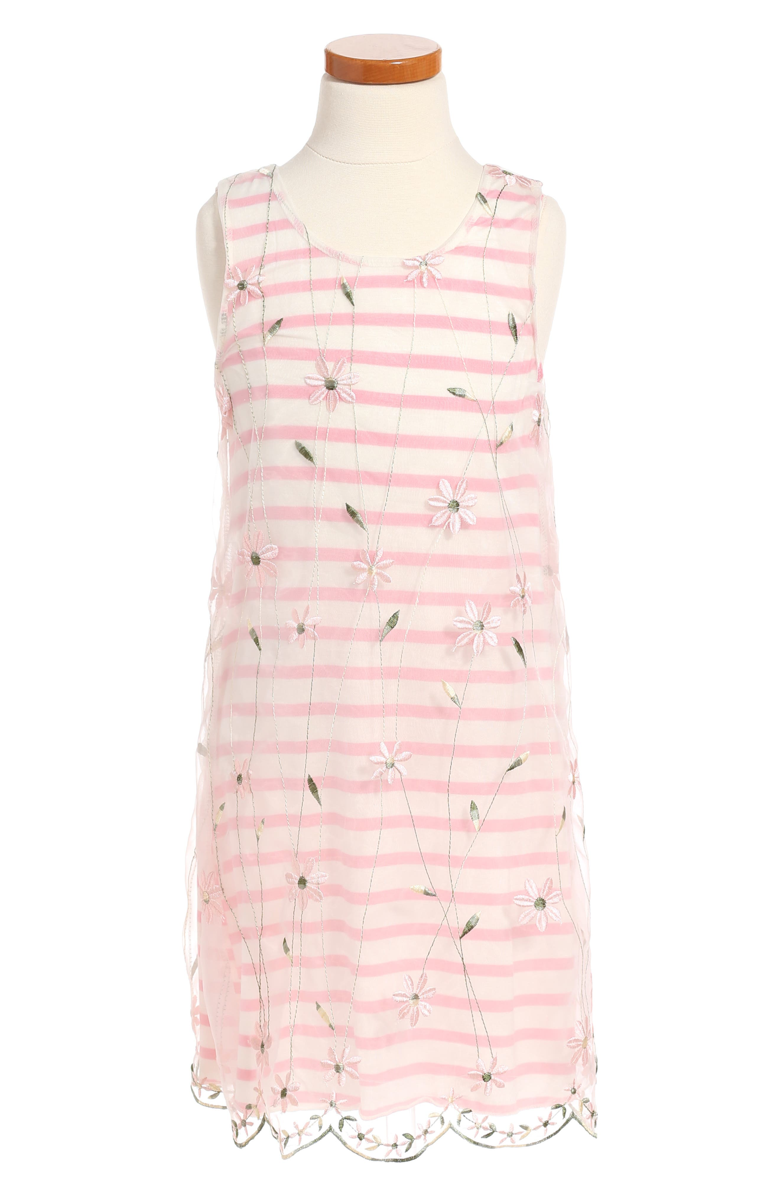 Twirls & Twigs Stripe Dress (Toddler Girls, Little Girls & Big Girls)