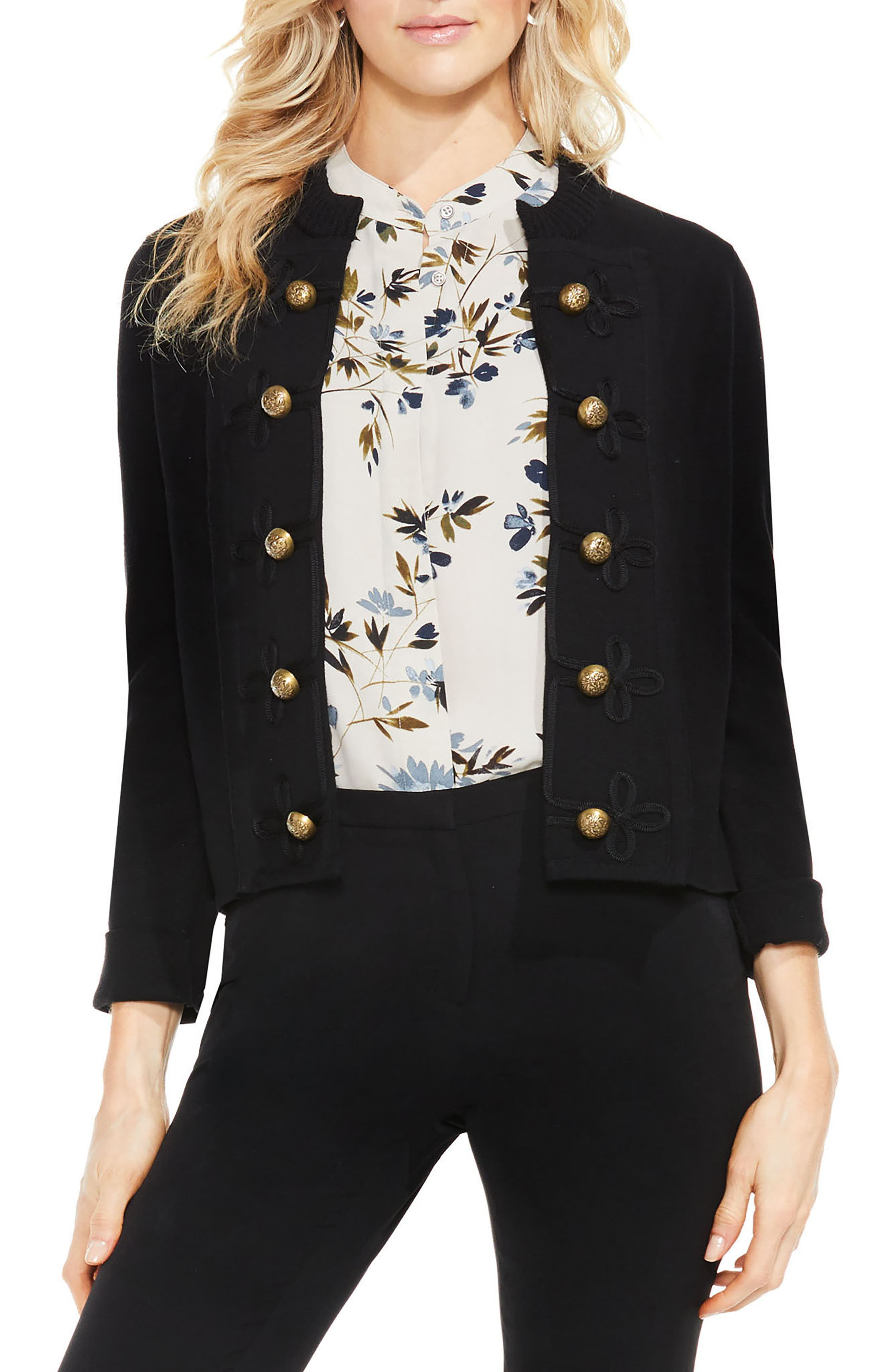 Vince Camuto Military Sweater Jacket