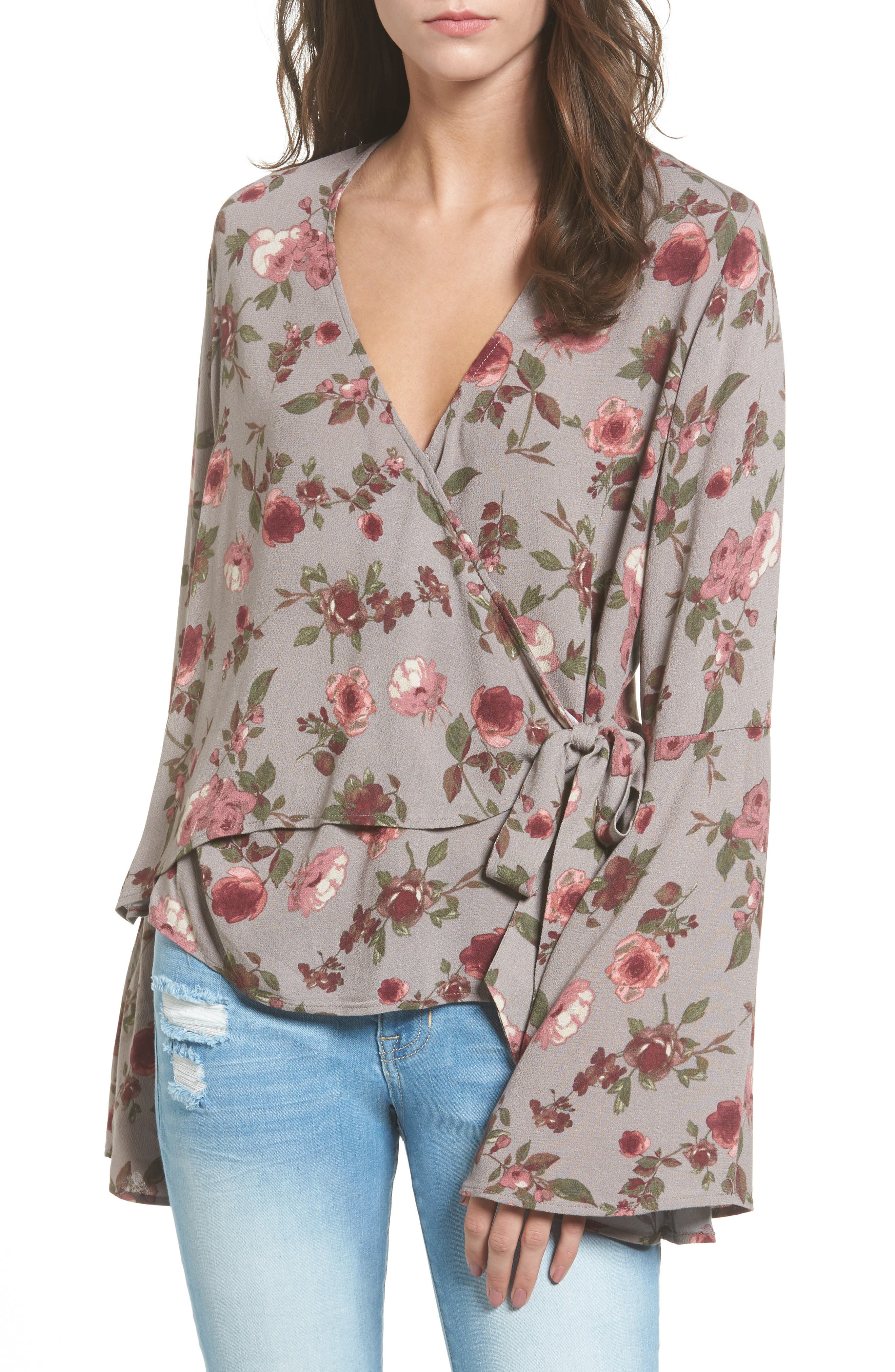 Ten Sixty Sherman Bell Sleeve Wrap Blouse