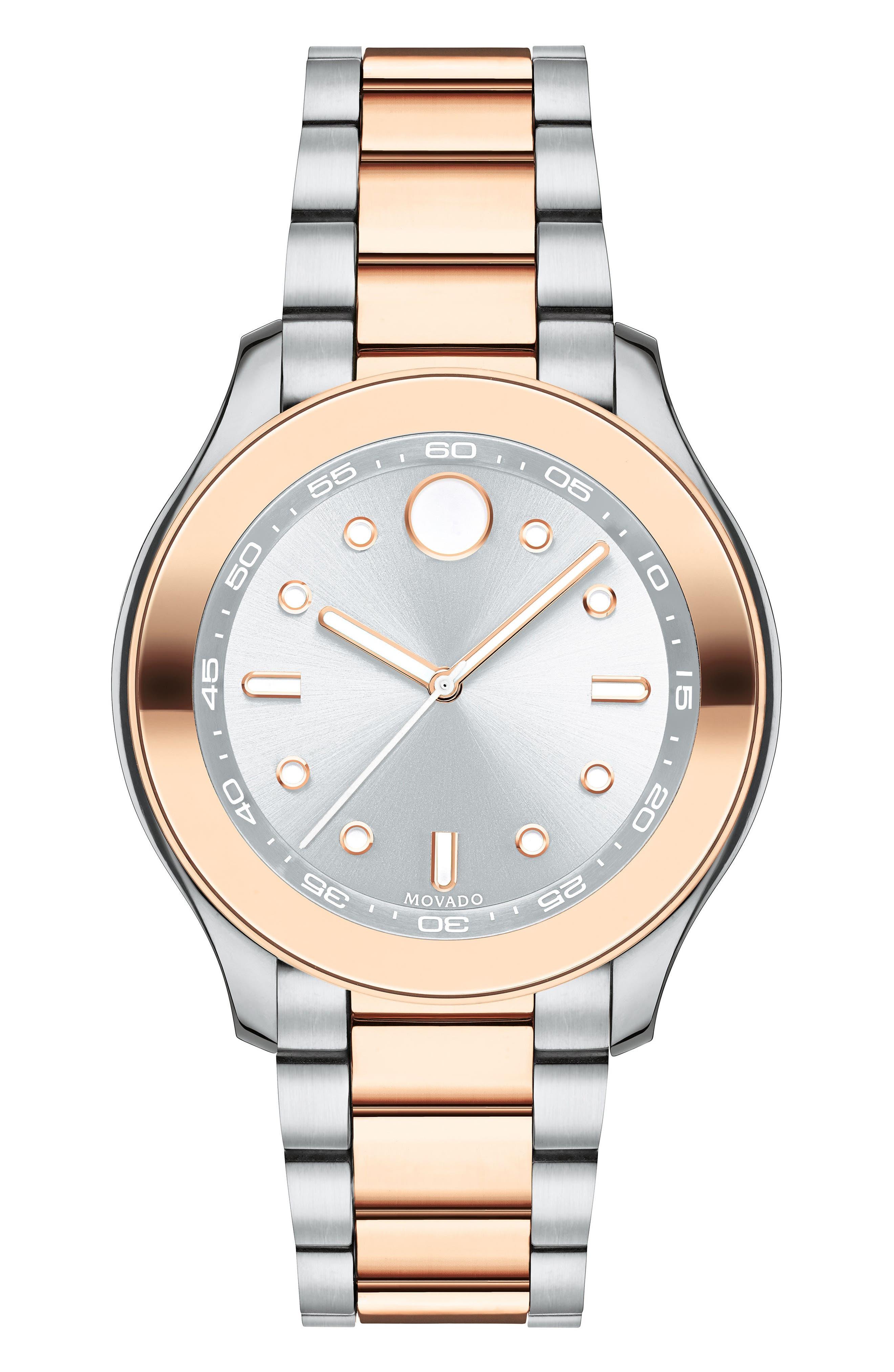 Movado Bold Two-Tone Bracelet Watch, 38mm