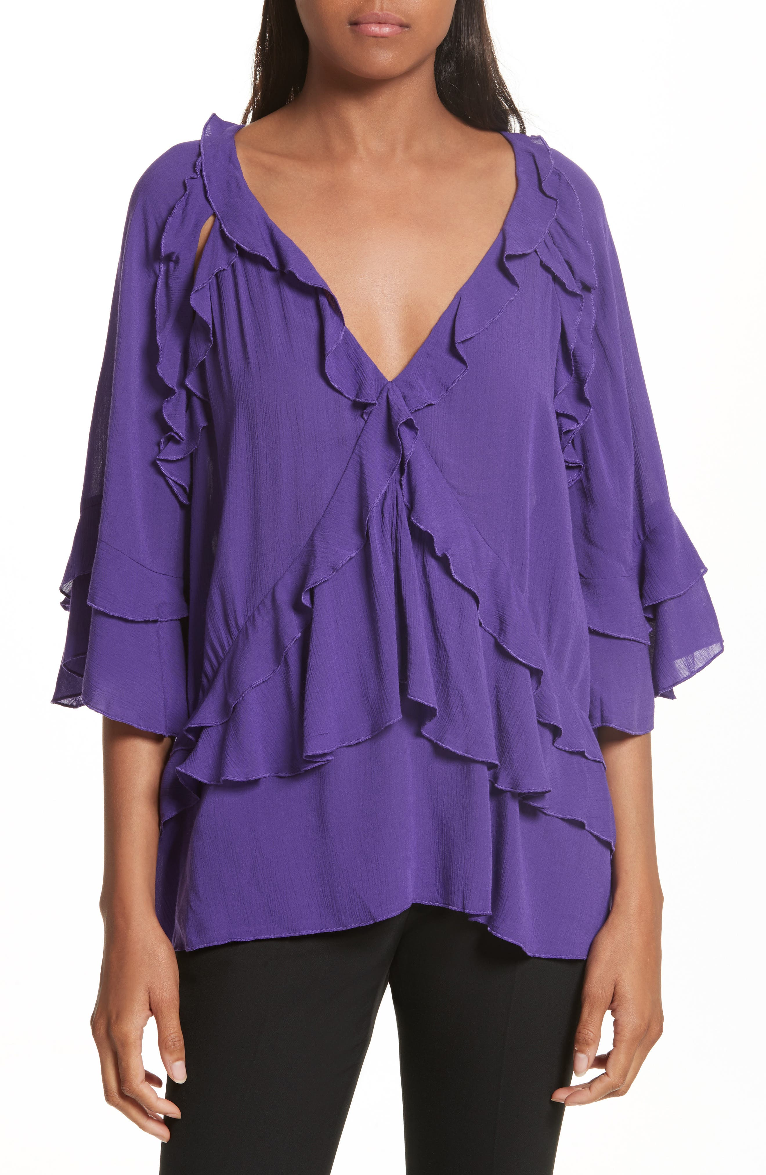 IRO Abby Ruffle Top