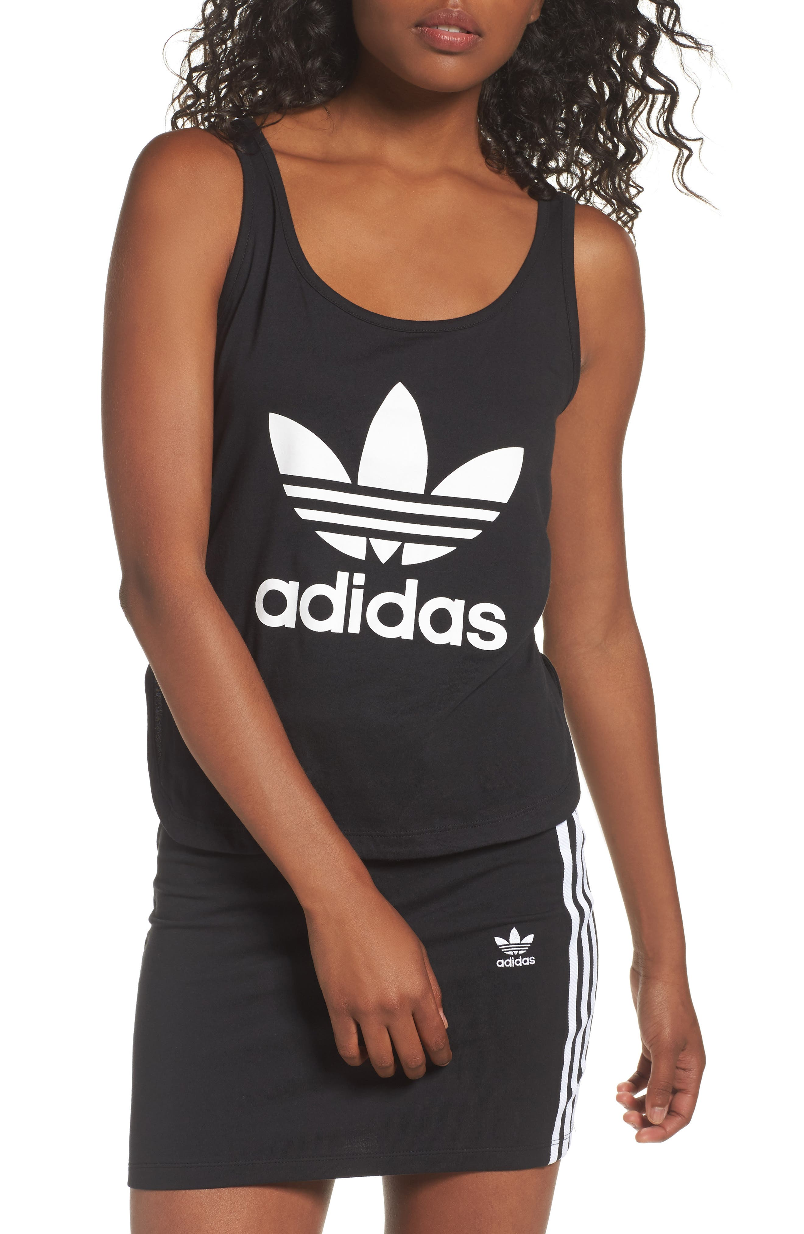 Alternate Image 1 Selected - adidas Originals Loose Crop Tank