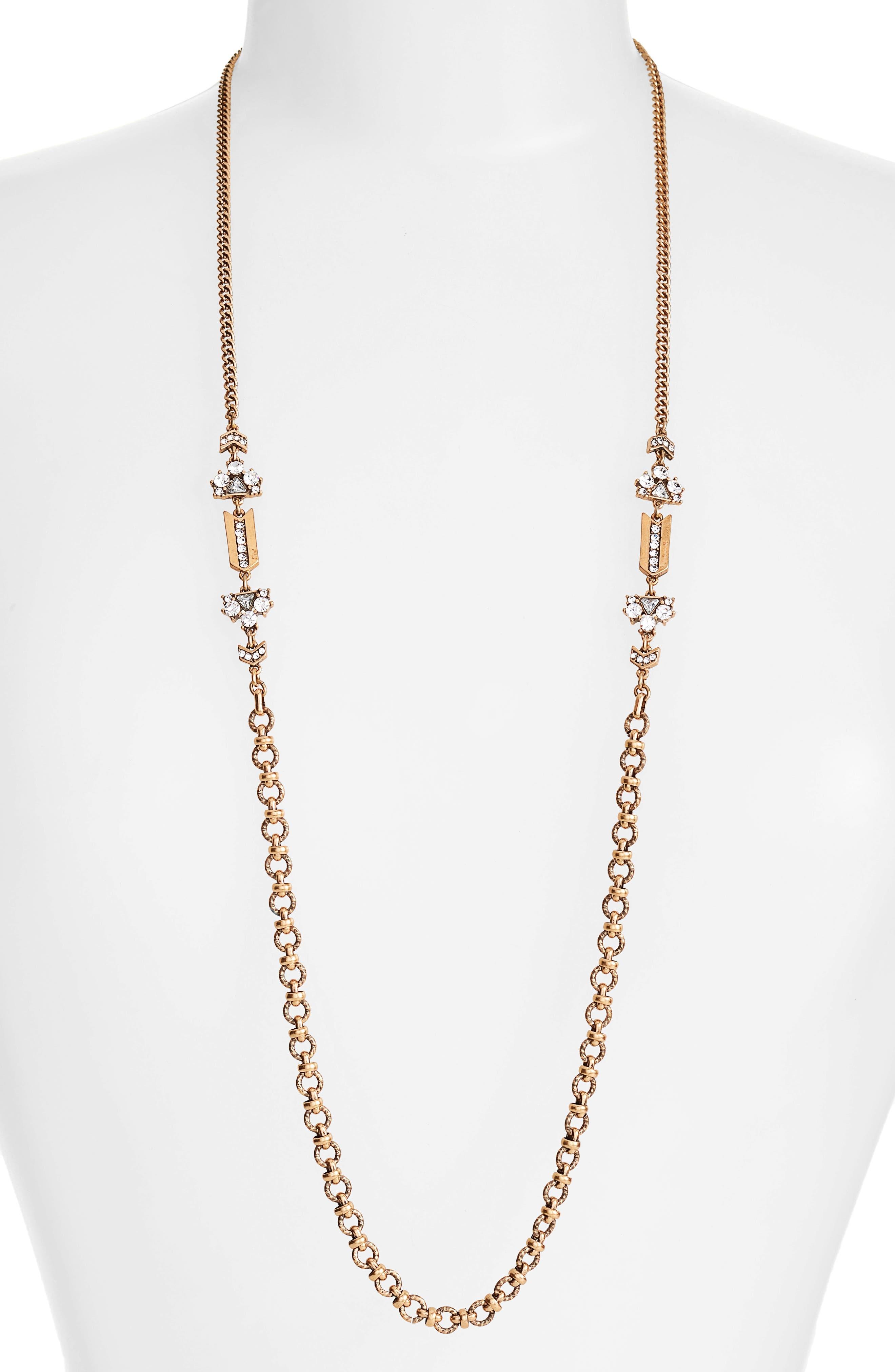 Treasure & Bond Crystal Strand Necklace