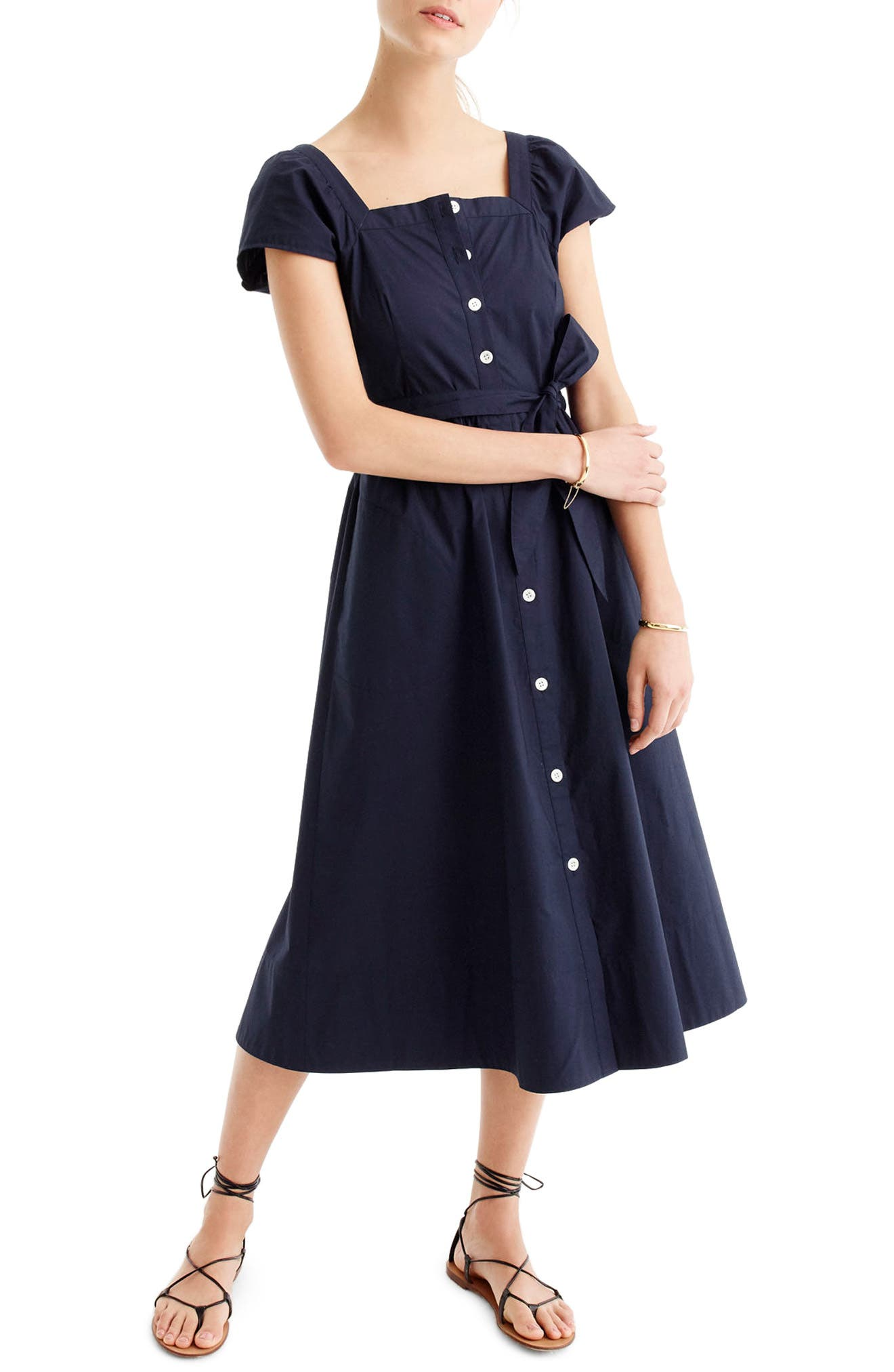 J.Crew Short Sleeve Shirtdress (Regular & Petite)